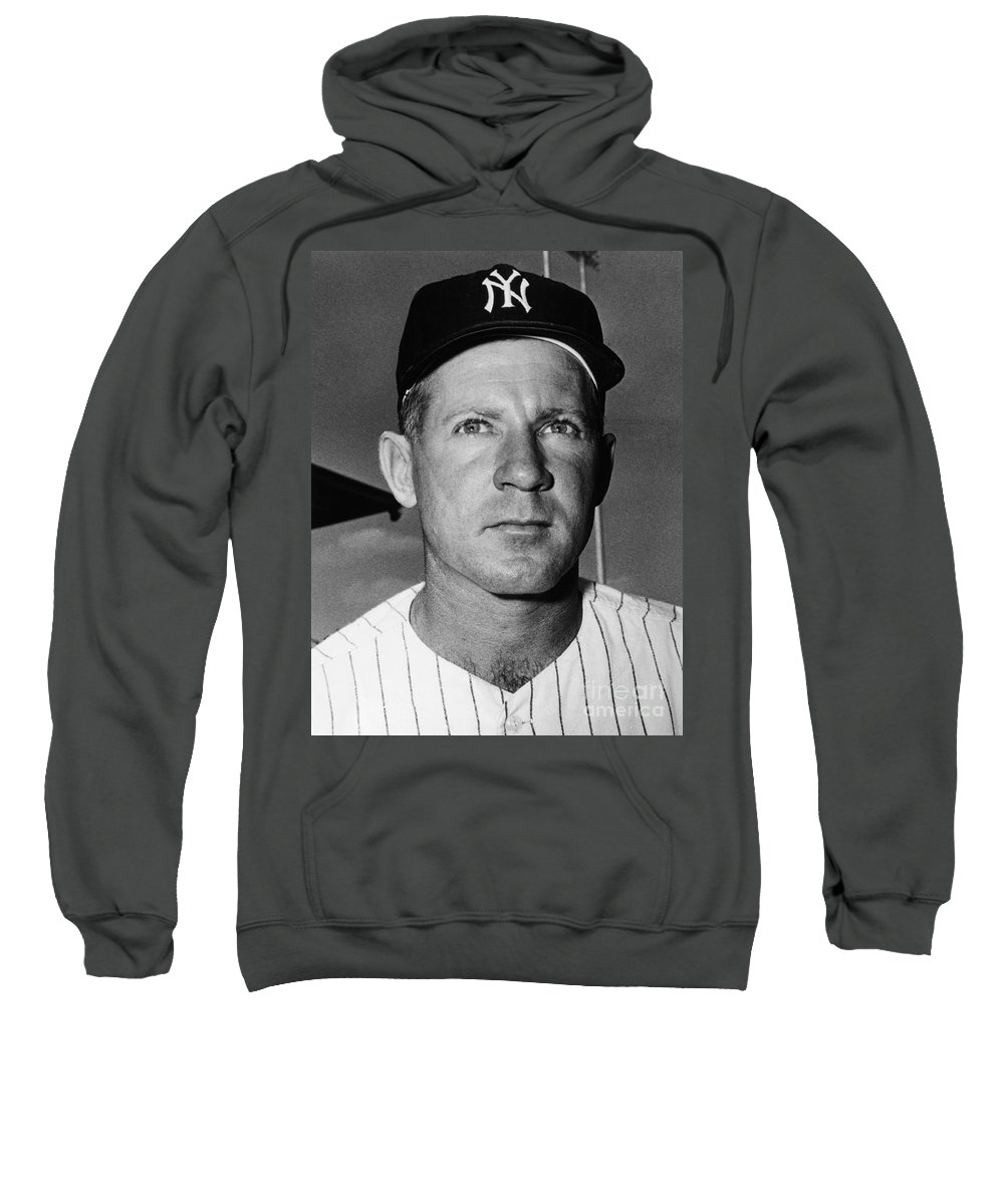 1962 Sweatshirt featuring the photograph Edward Whitey Ford by Granger