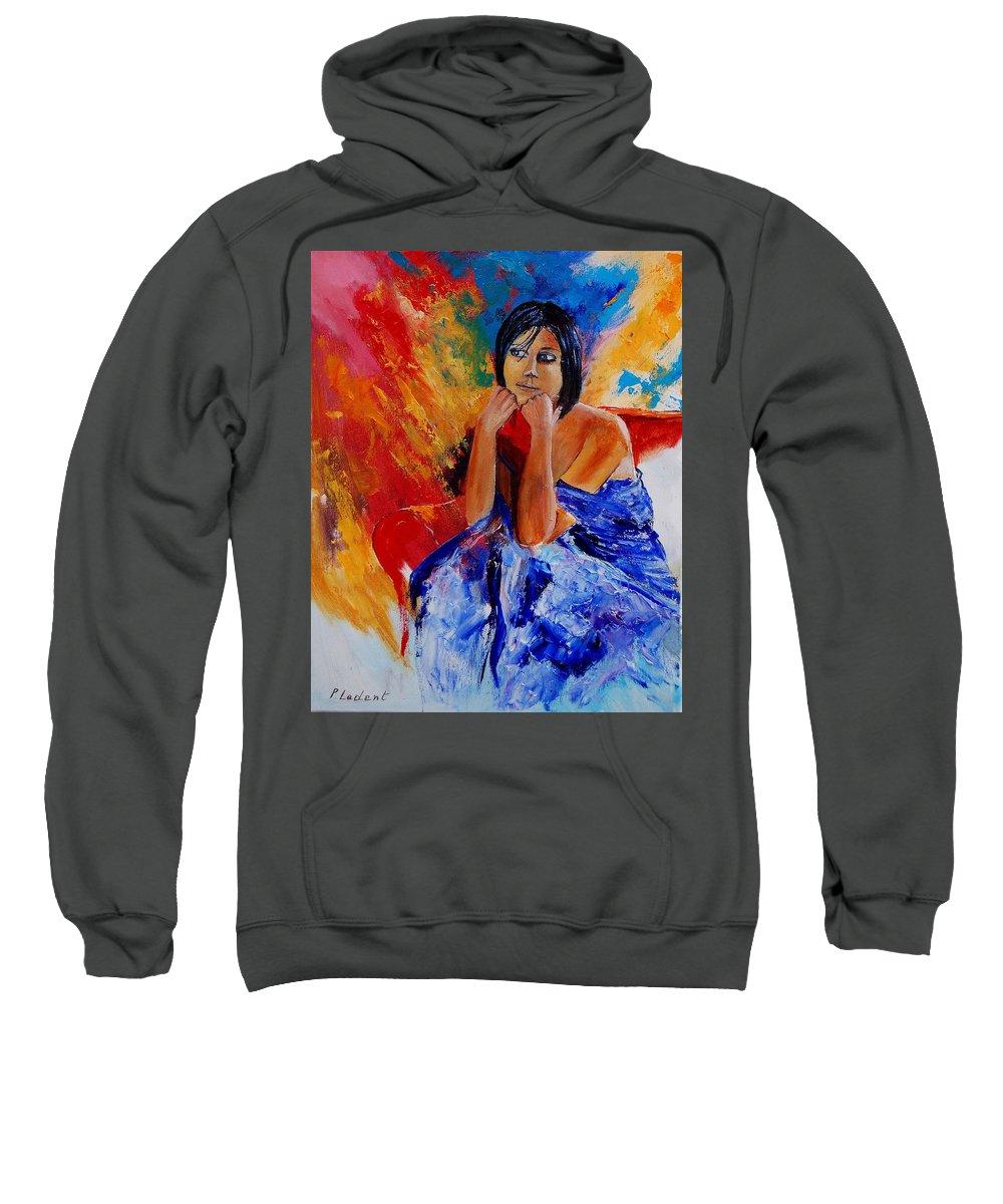 Girl Sweatshirt featuring the painting Eglantine 45901111 by Pol Ledent