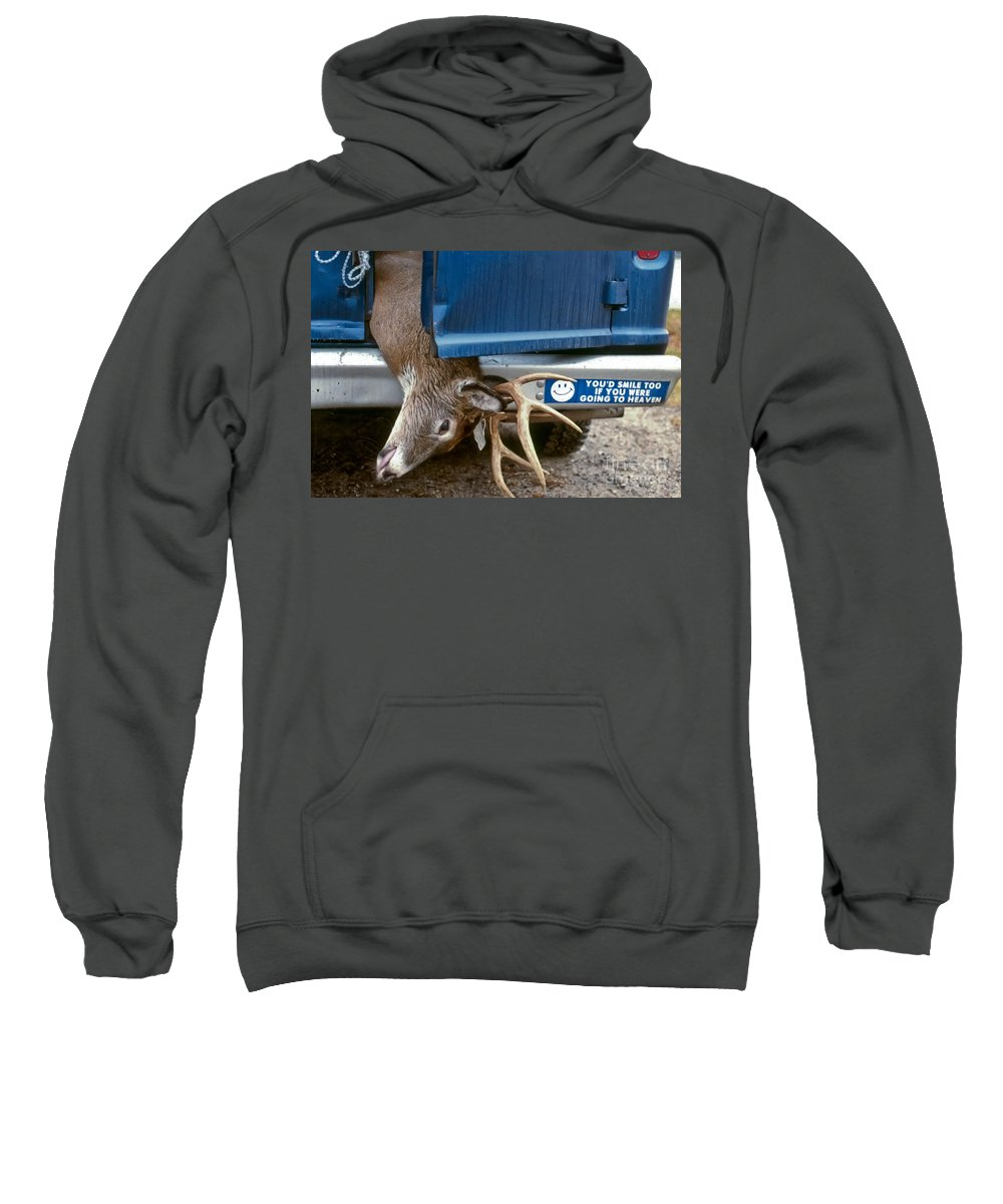 Deer Sweatshirt featuring the photograph Eternal Reward by Thomas Marchessault