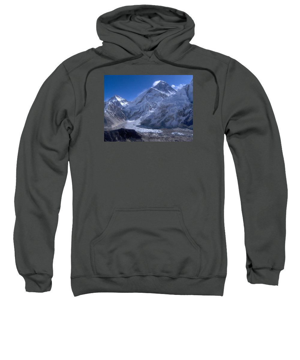 Everest Sweatshirt featuring the photograph Everest Base Camp by Chris Bradley