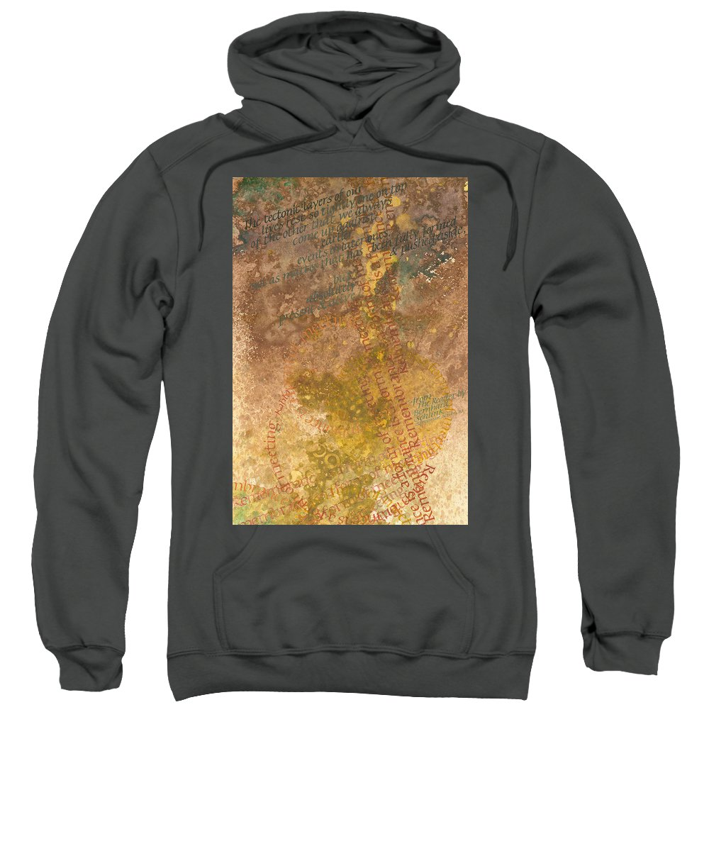 Calligraphy Sweatshirt featuring the painting Evolving by Sid Freeman