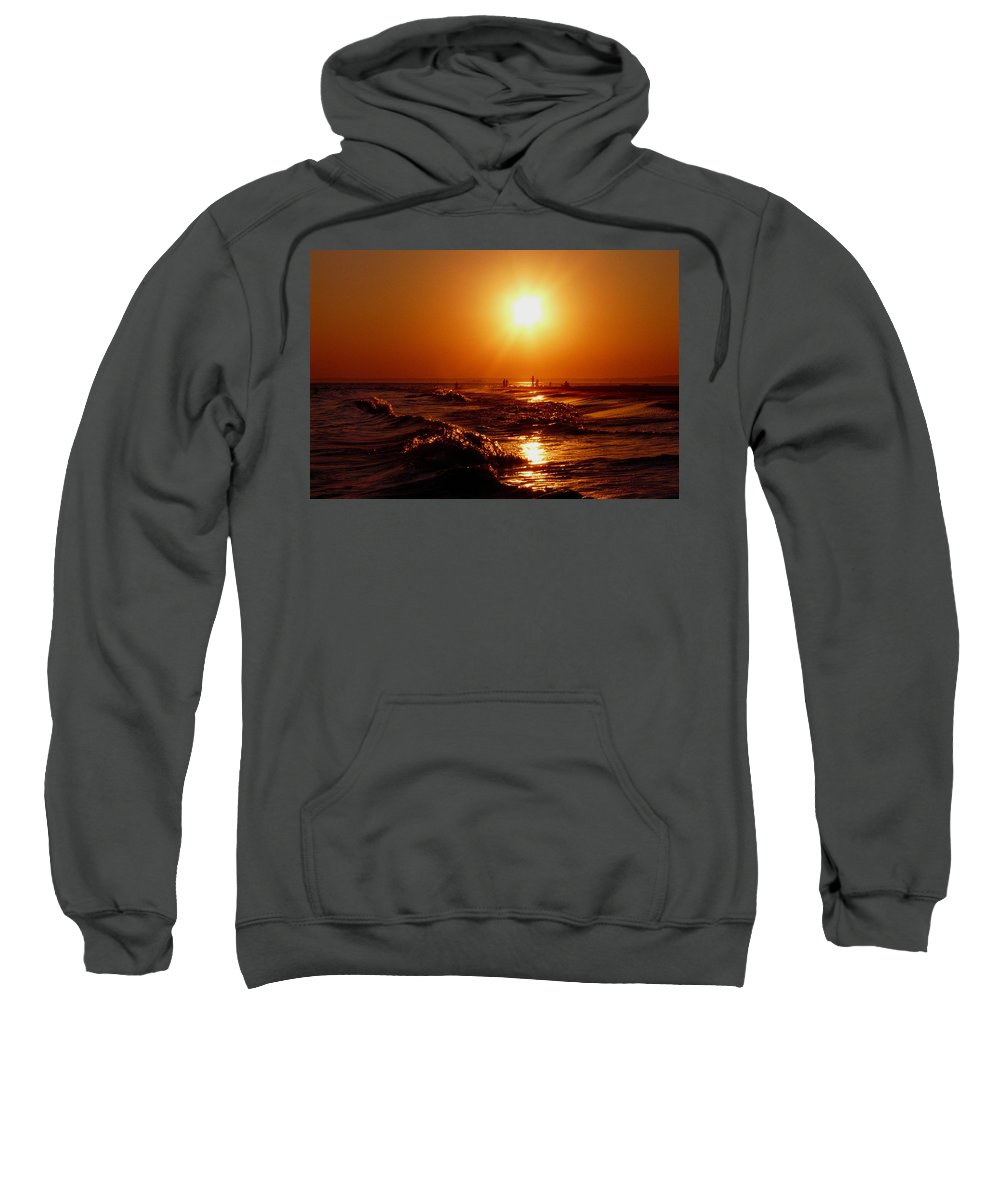 Sunset Sweatshirt featuring the photograph Extreme Blazing Sun by Kendall Eutemey