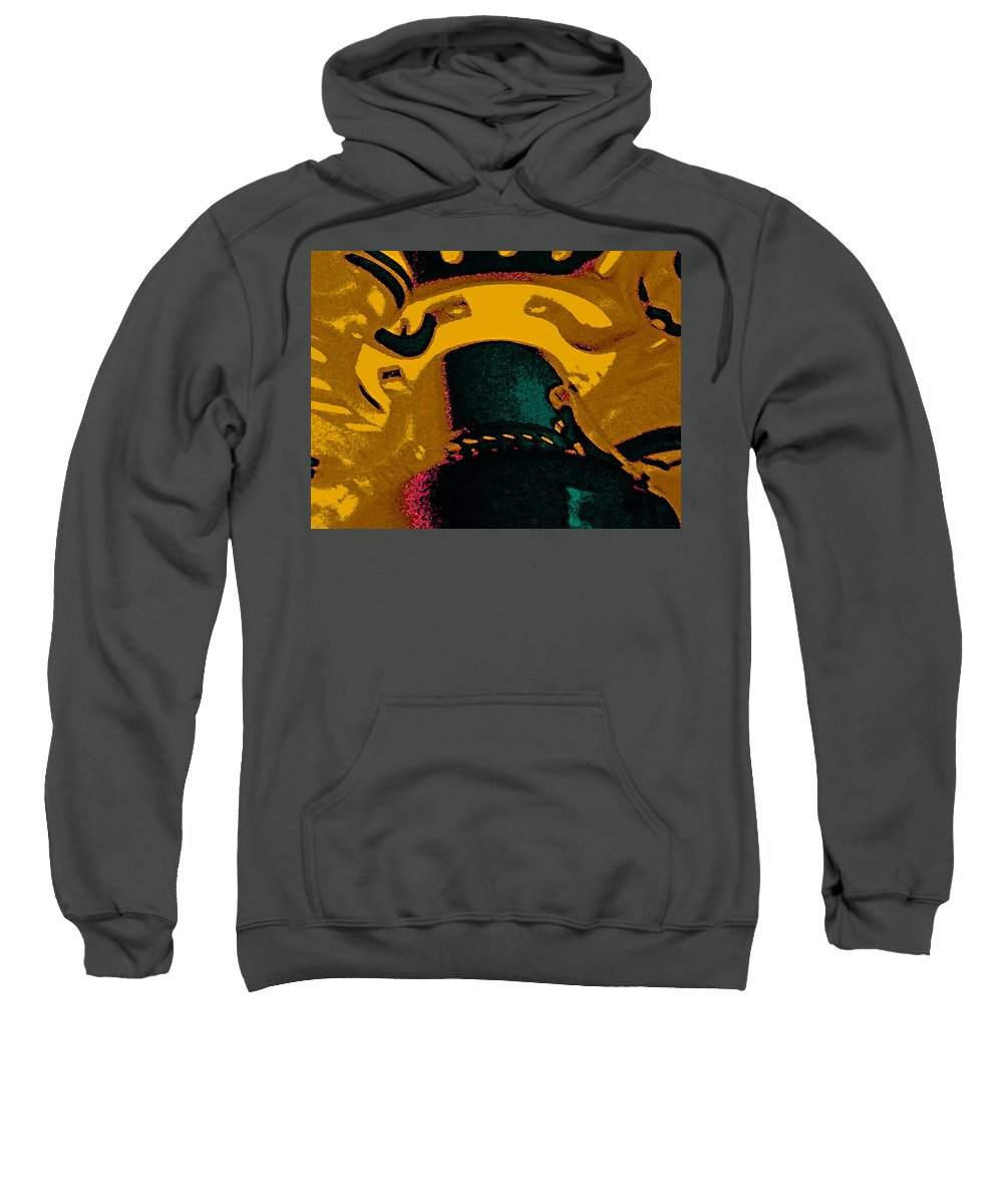 Abstract Sweatshirt featuring the photograph Fan by Lenore Senior