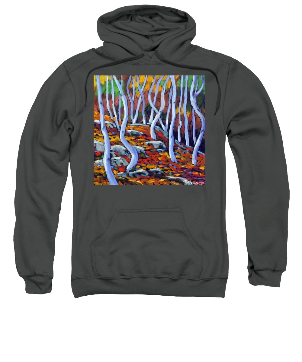 Art Sweatshirt featuring the painting Fantaisie No 6 by Richard T Pranke