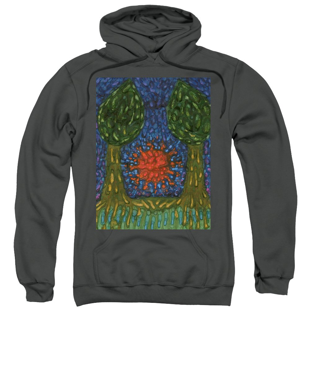 Colour Sweatshirt featuring the painting Farewell by Wojtek Kowalski