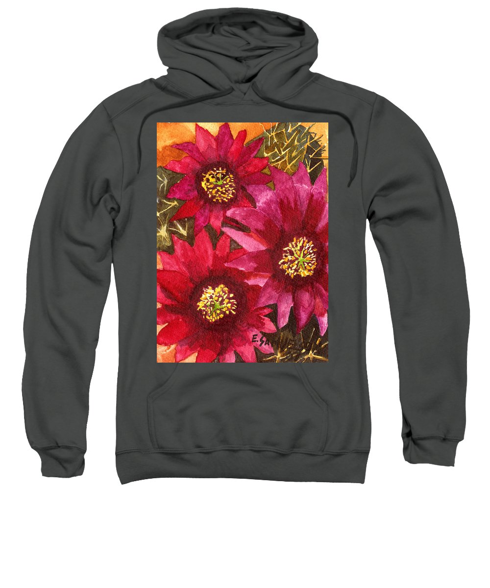 Cactus Sweatshirt featuring the painting Fendlers Hedgehog by Eric Samuelson
