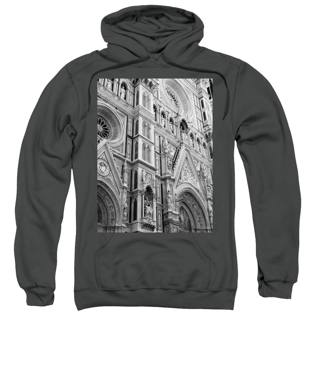 Black And White Sweatshirt featuring the photograph Florence by Modern Art