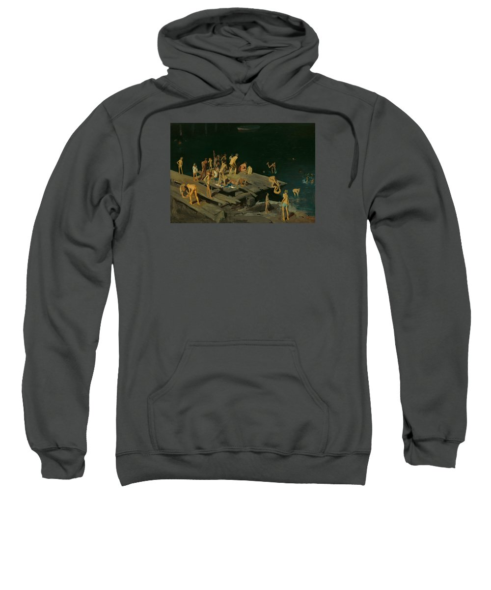 Painting Sweatshirt featuring the painting Forty-two Kids by Mountain Dreams