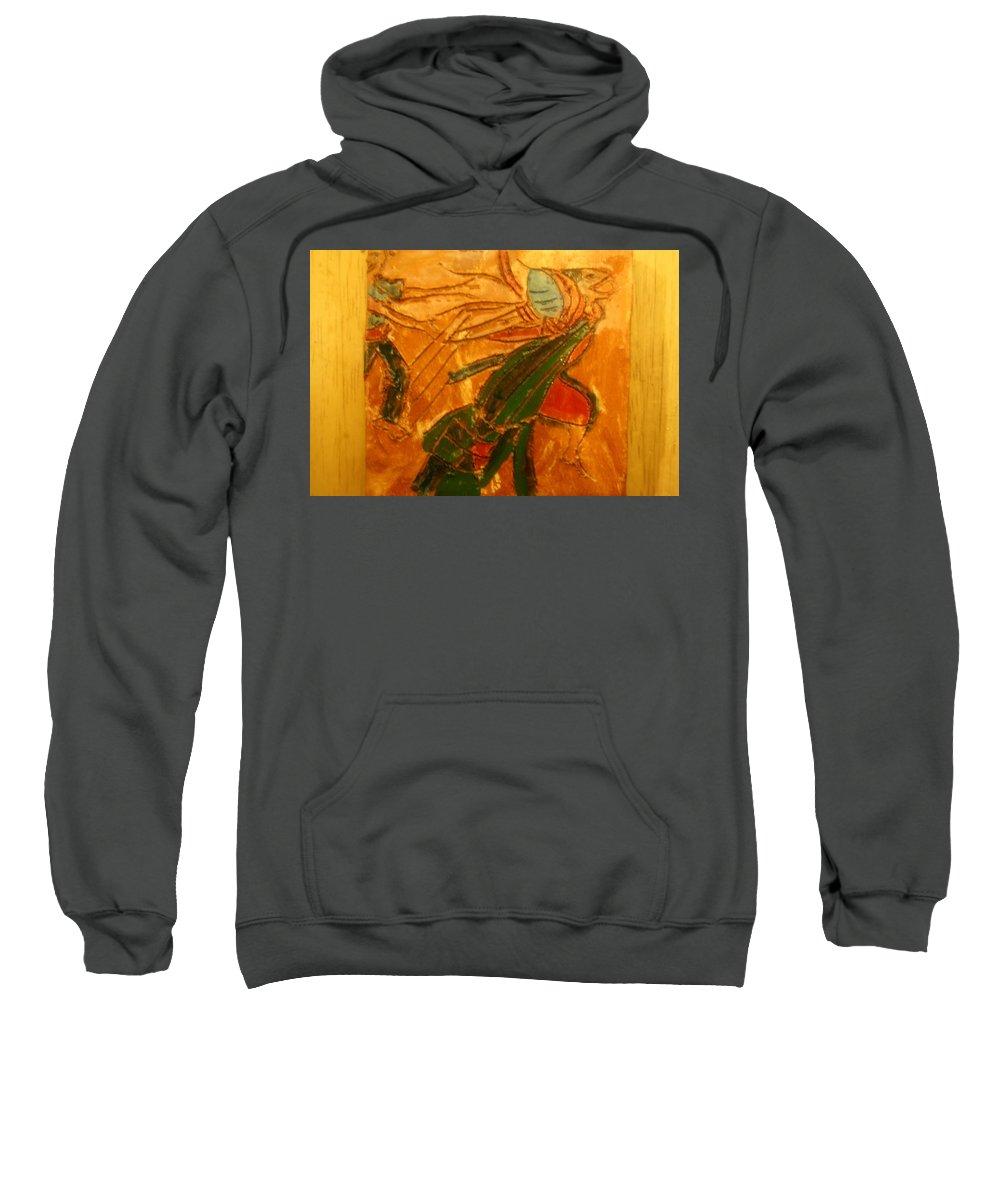 Jesus Sweatshirt featuring the ceramic art Friends - Tile by Gloria Ssali