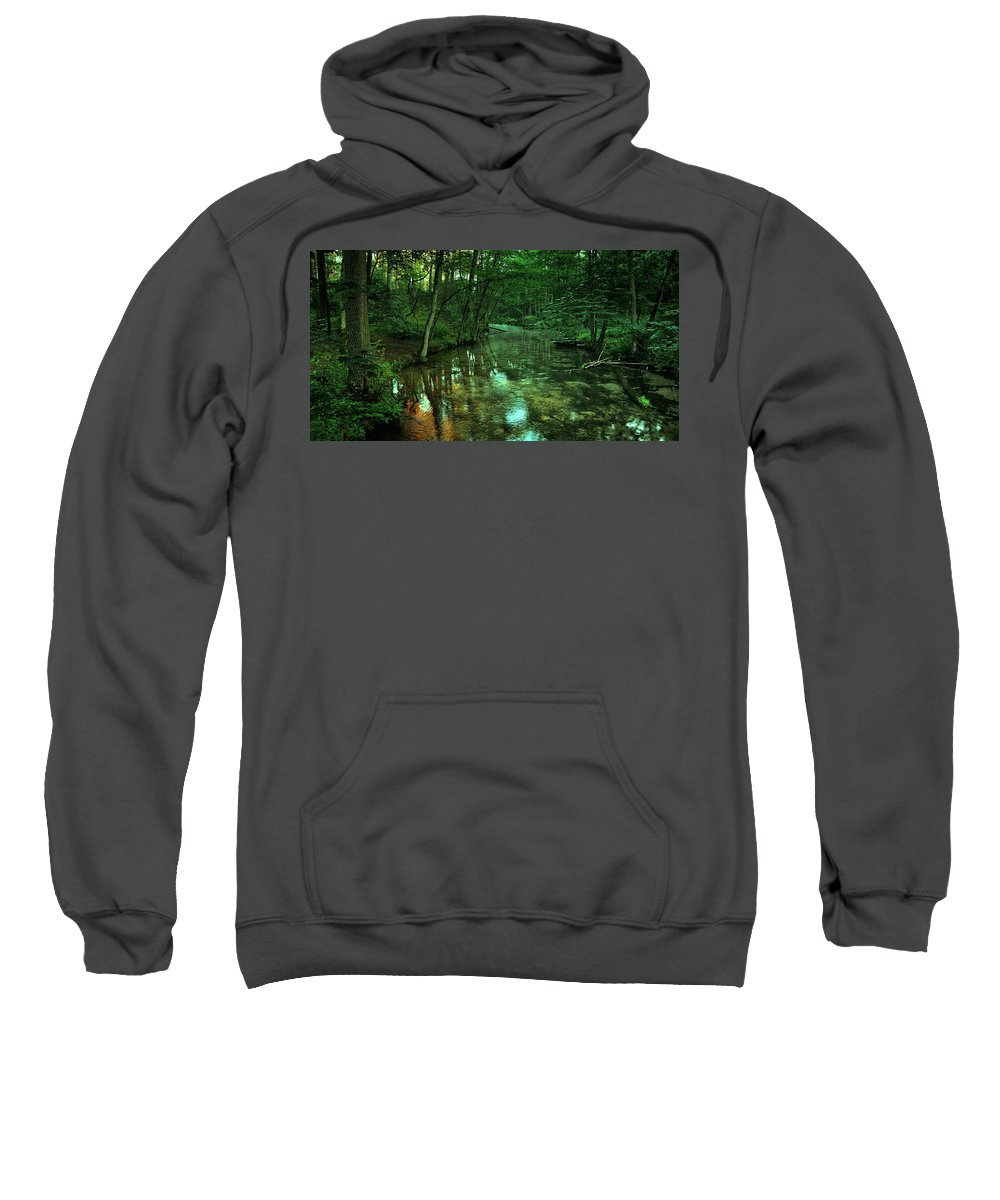 Stream Sweatshirt featuring the photograph Gentle Stream by Pixabay