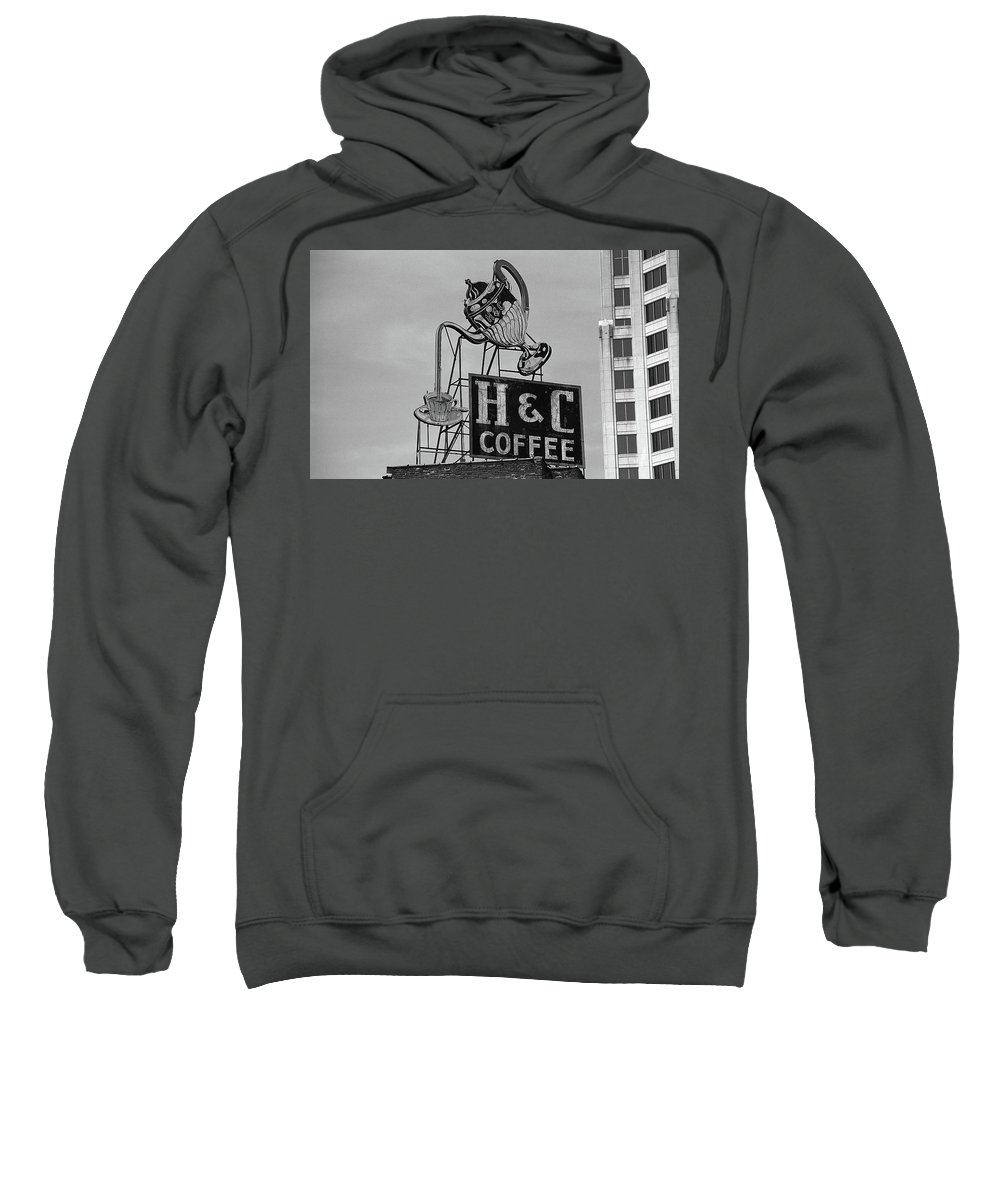 America Sweatshirt featuring the photograph H C Coffee by Frank Romeo