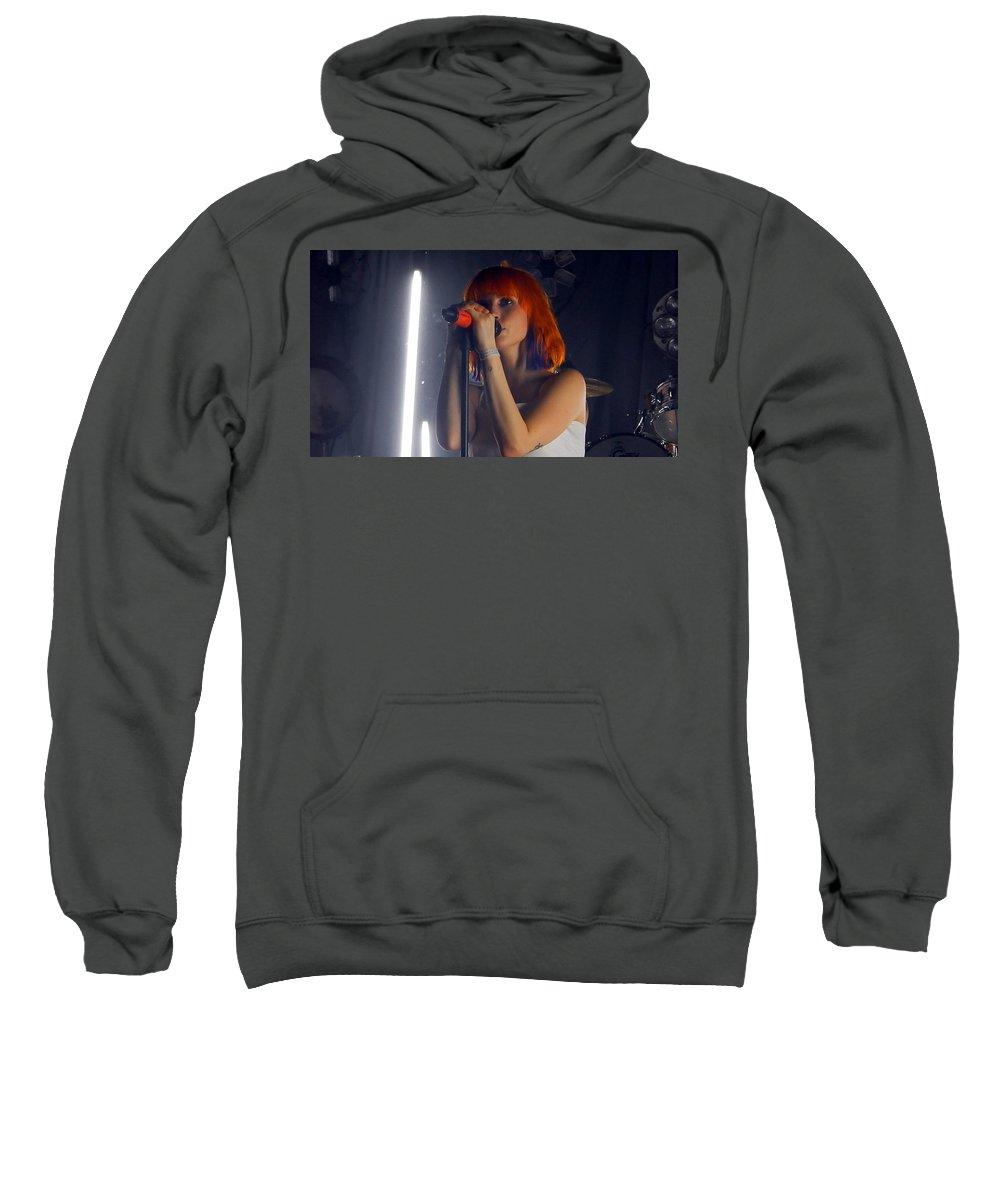 Hayley Williams Sweatshirt featuring the digital art Hayley Williams by Bert Mailer