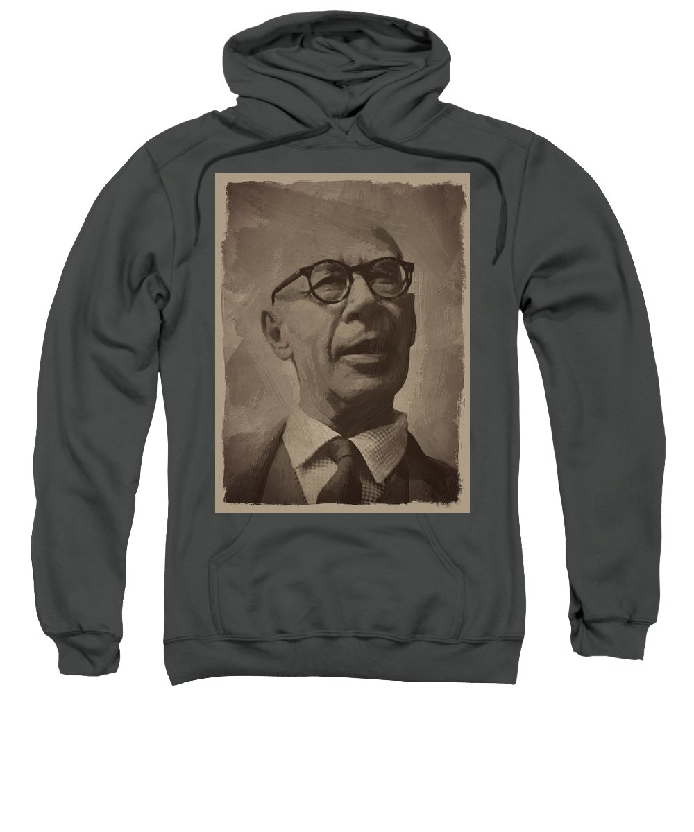 Henry Miller Sweatshirt featuring the digital art Henry Miller 2 by Afterdarkness