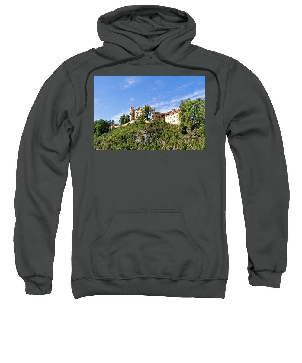 Schloss Sweatshirt featuring the photograph Holenschwangau Castle 2 by Bernard Barcos
