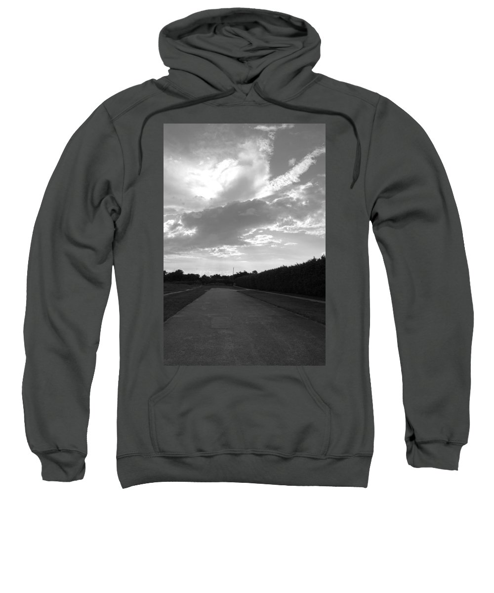 Black And White Sweatshirt featuring the photograph Homestead Sky by Rob Hans