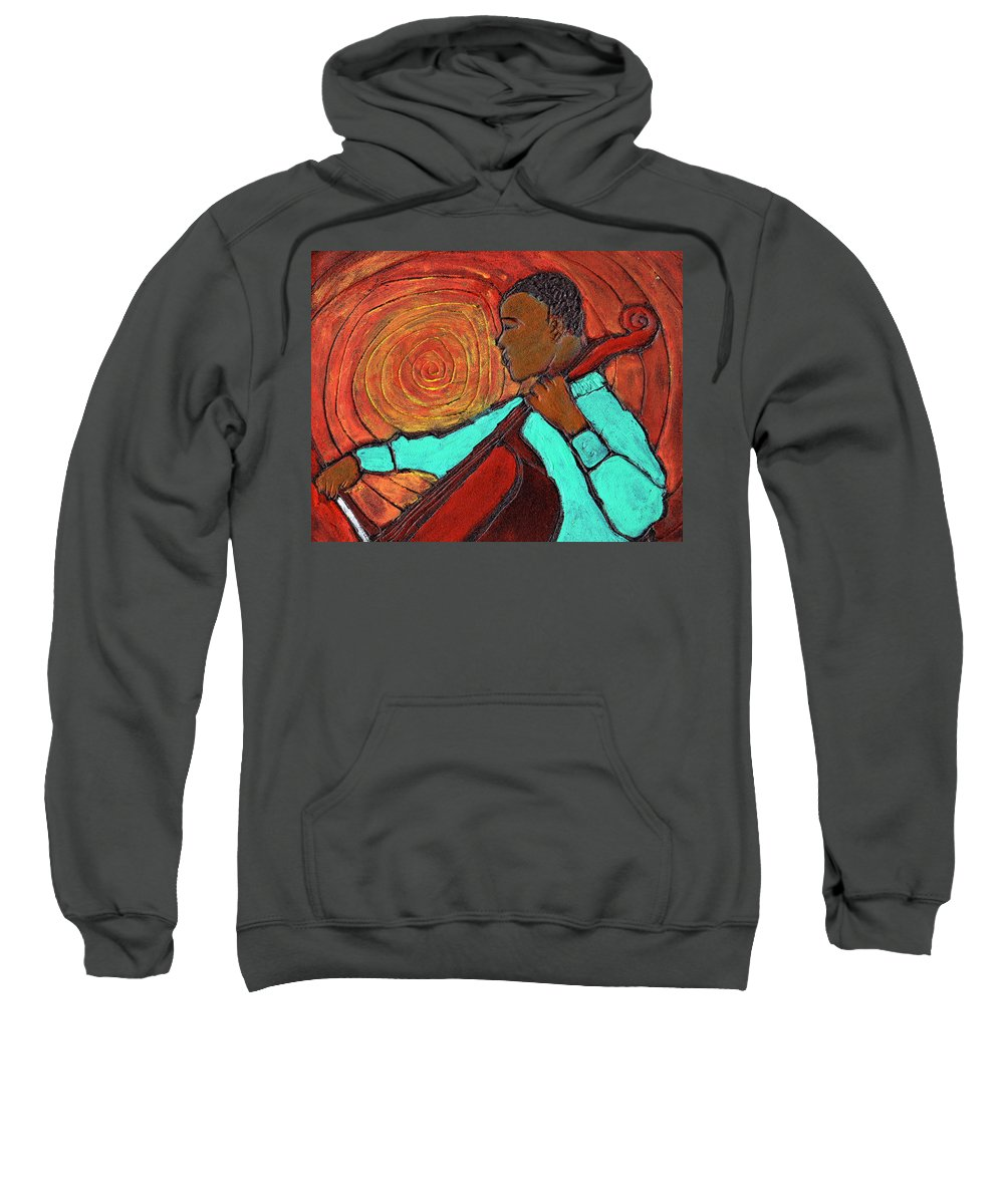Jazz Sweatshirt featuring the painting Hot Jazz by Wayne Potrafka