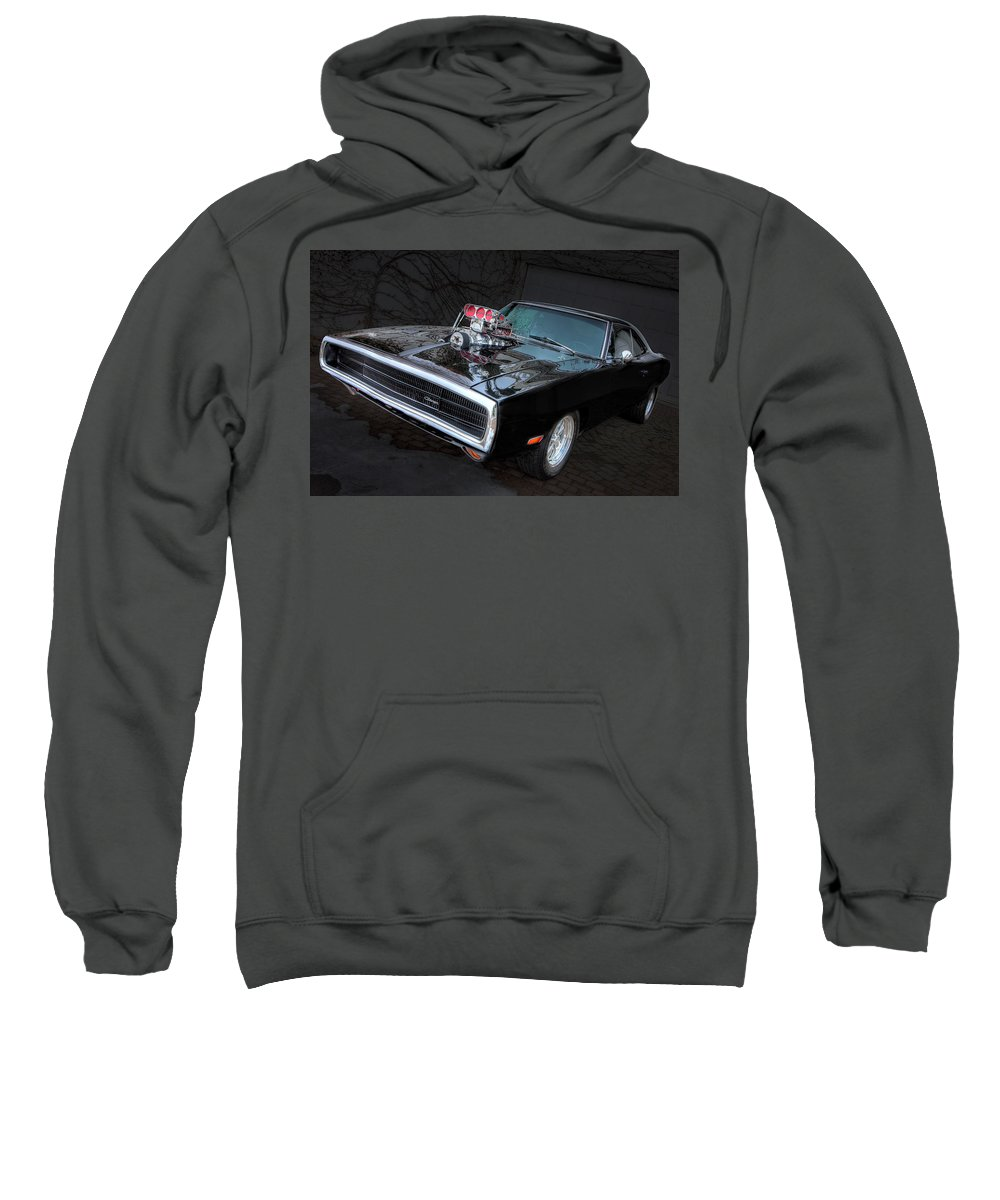 Hot Rod Sweatshirt featuring the digital art Hot Rod by Bert Mailer