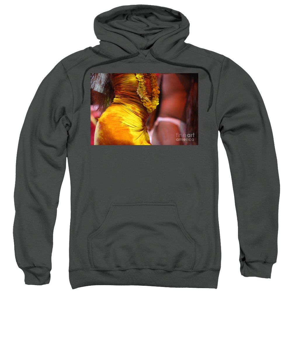 Dance Sweatshirt featuring the photograph Hula Dancers by Nadine Rippelmeyer
