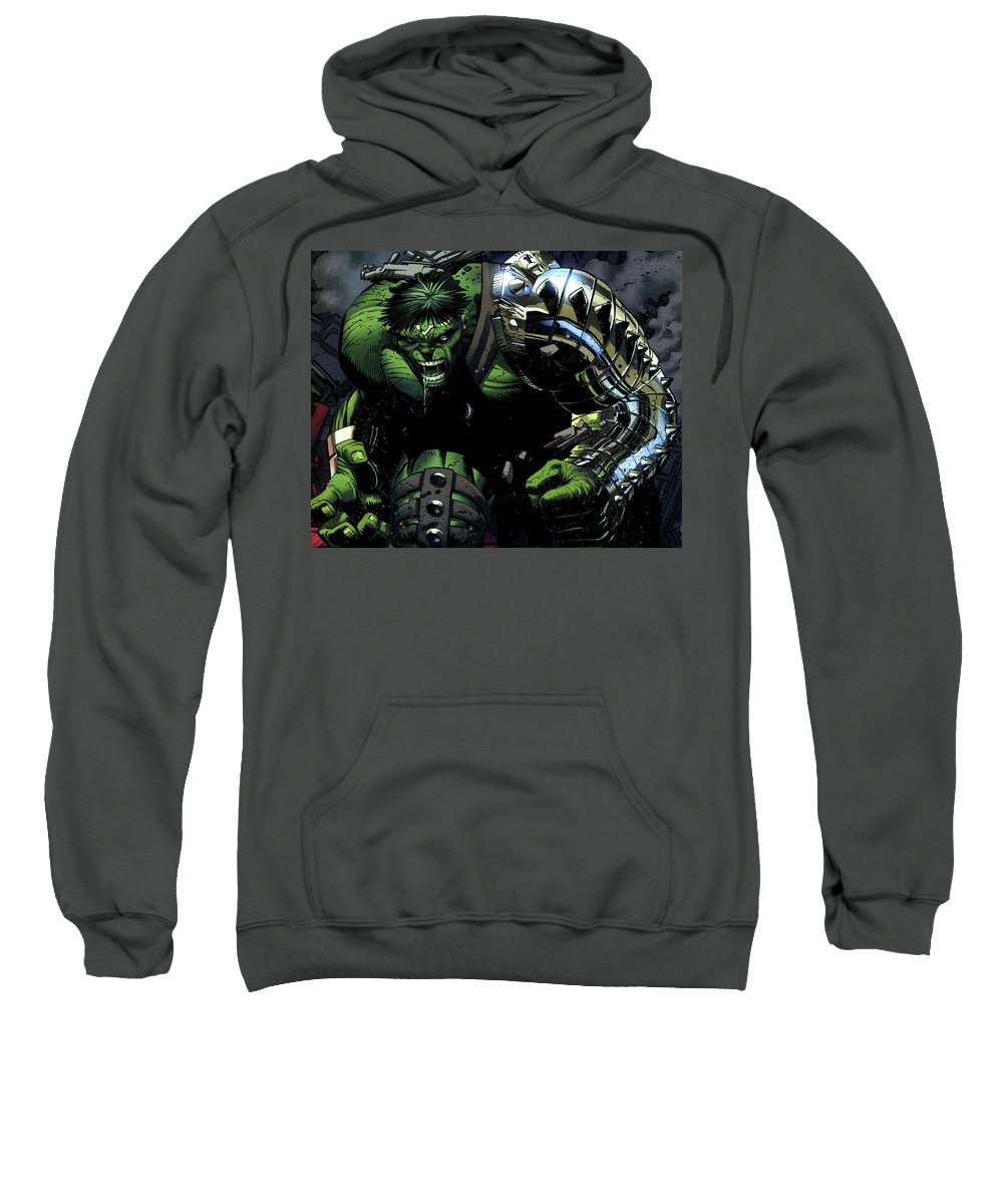 Hulk Sweatshirt featuring the digital art Hulk by Mery Moon