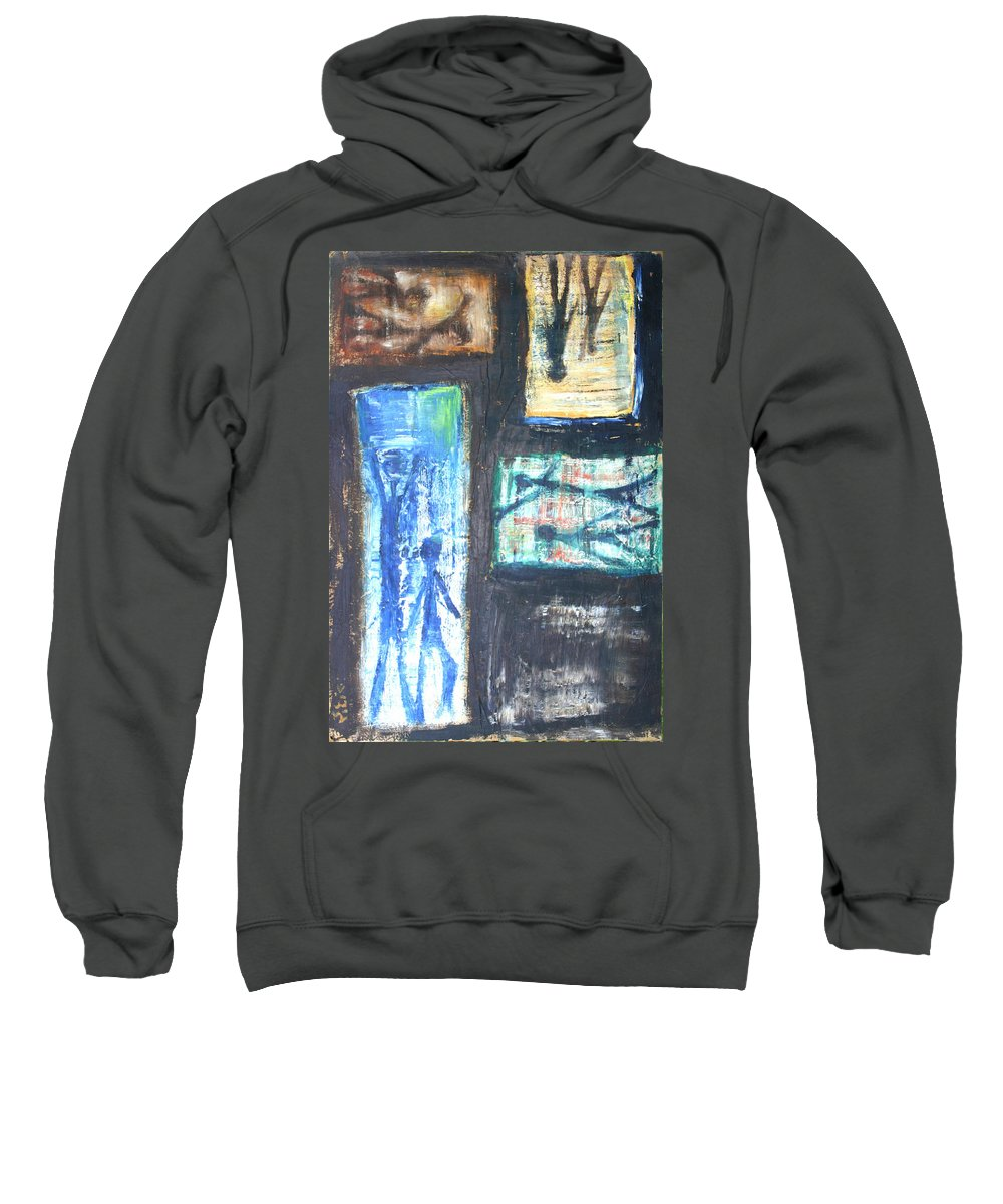 Drawing Sweatshirt featuring the painting Images by Gideon Cohn