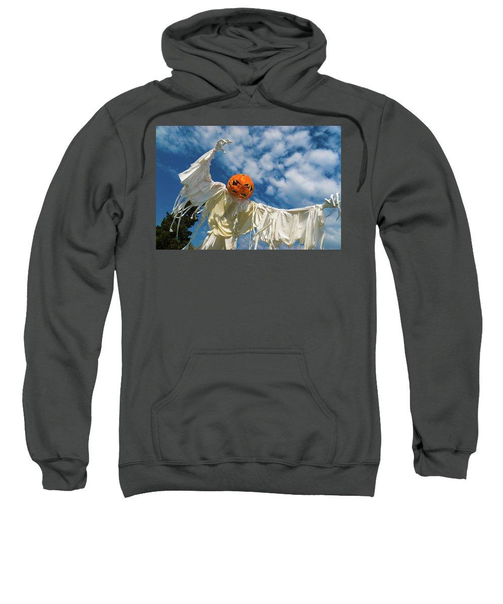 Landscape Sweatshirt featuring the photograph Jack-o-lantern Man by Javier Flores