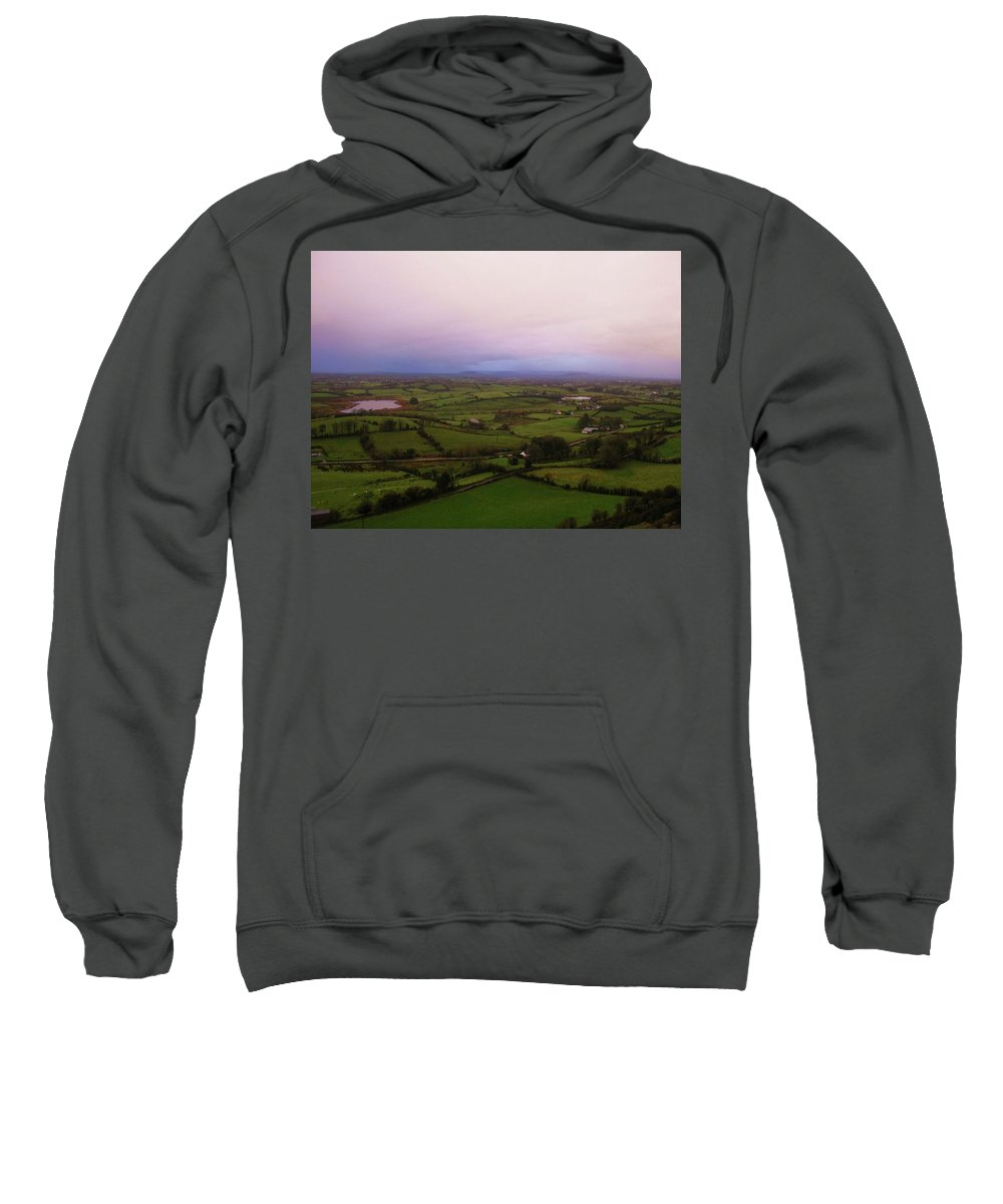 Landscape Sweatshirt featuring the photograph Kesh Caves Co Sligo Ireland by Louise Macarthur Art and Photography