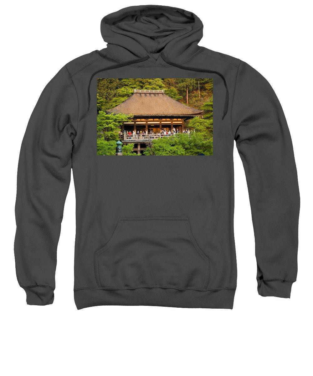Pagoda Sweatshirt featuring the photograph Kiyomizudera Temple by Sebastian Musial
