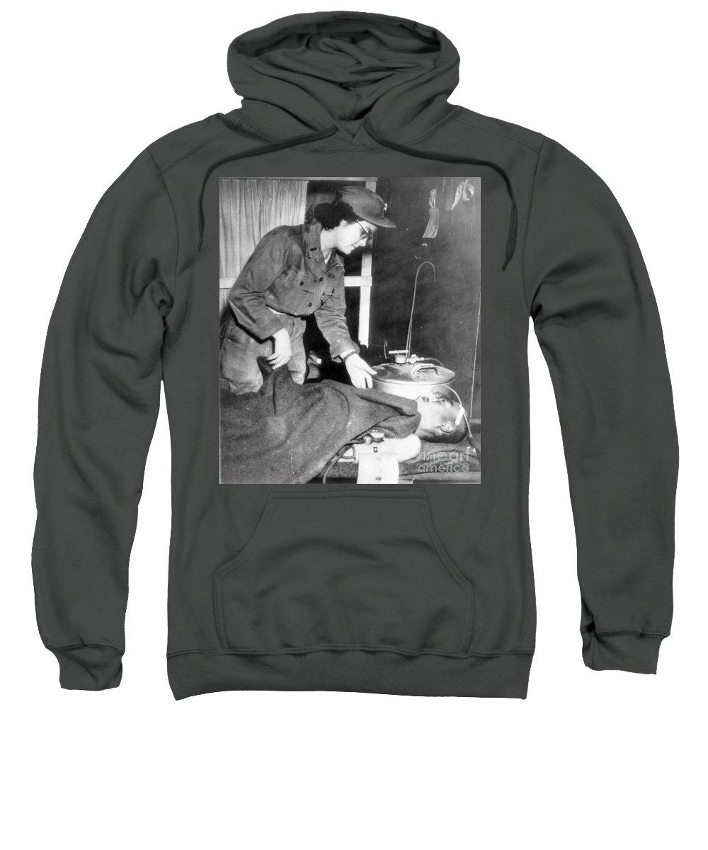 1952 Sweatshirt featuring the photograph Korean War, 1952 by Granger