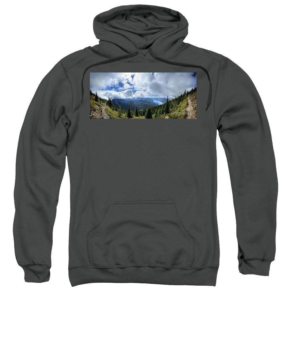 Glacier National Park Sweatshirt featuring the photograph Lake Mcdonald From Mt Brown Trail - Glacier National Park by Bruce Lemons