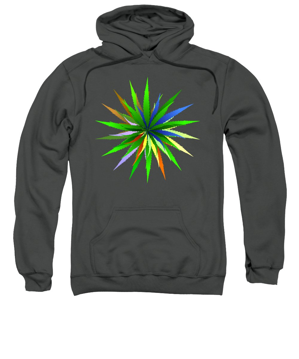Grass Sweatshirt featuring the digital art Leaves Of Grass by Michal Boubin