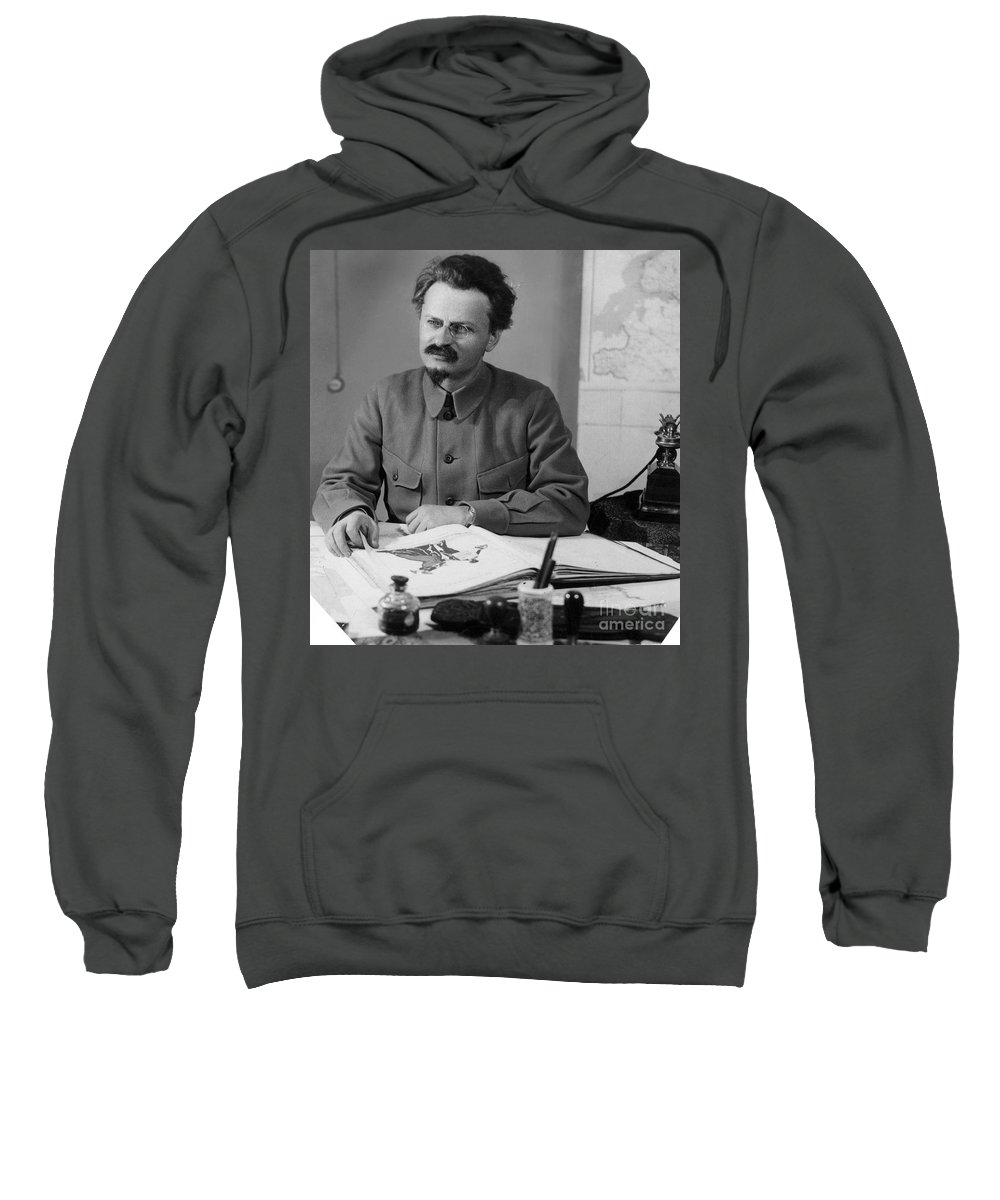 20th Century Sweatshirt featuring the photograph Leon Trotsky (1879-1940) by Granger