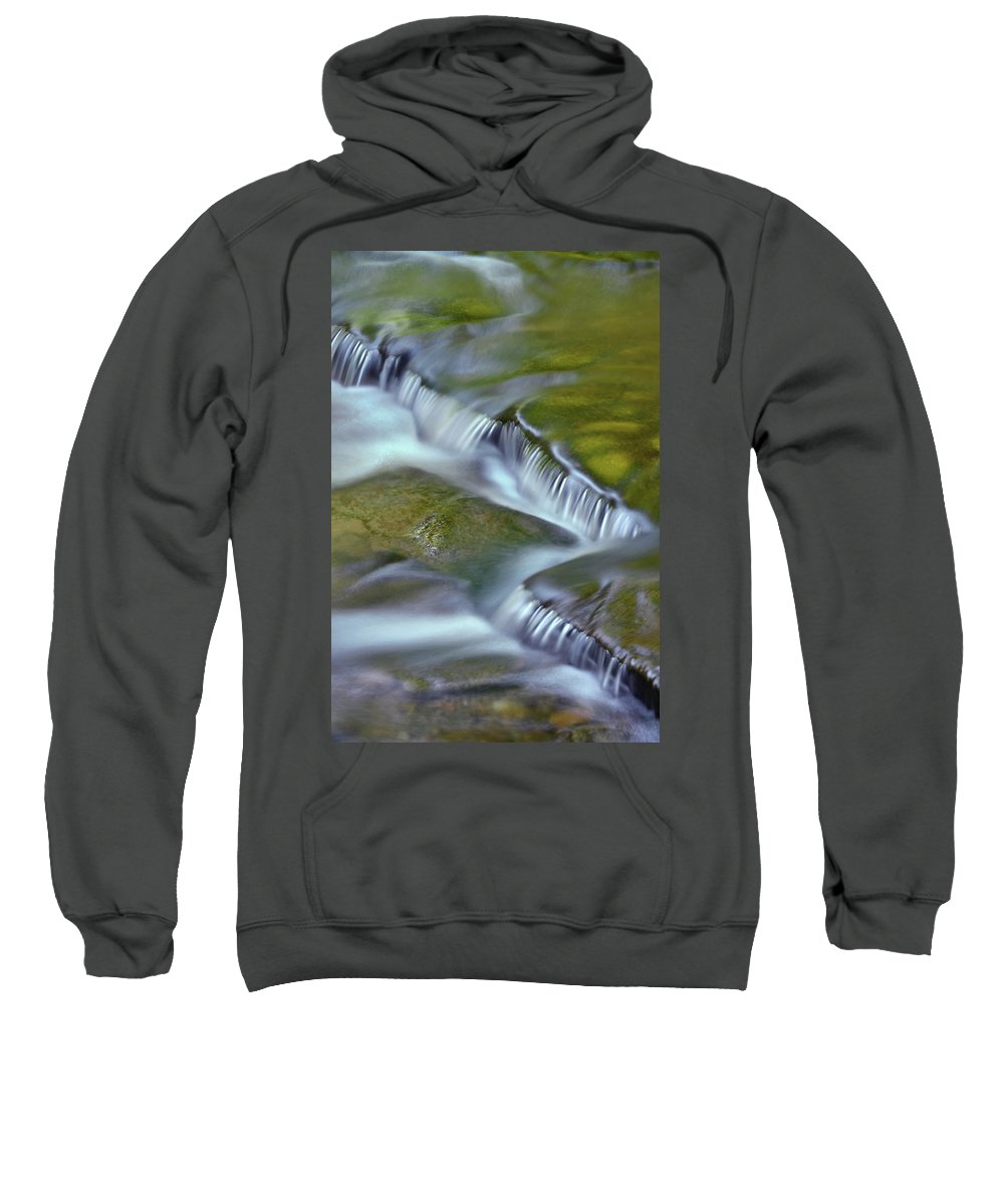 Letchworth Falls State Park Sweatshirt featuring the photograph Letchworth Falls Sp Wolfe Creek by Dean Hueber