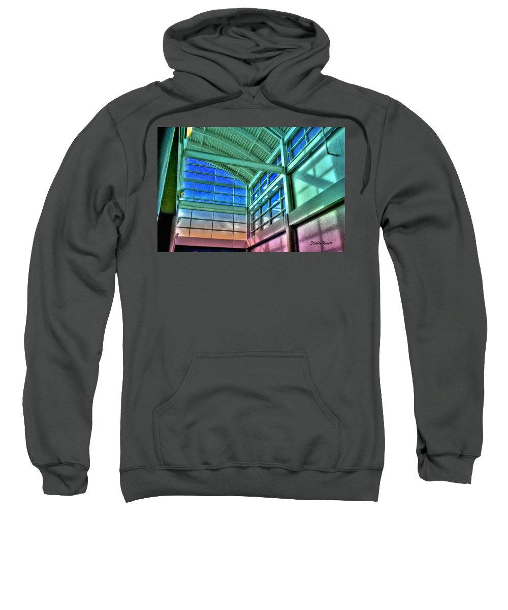 University Sweatshirt featuring the digital art Light Loft by Stephen Younts