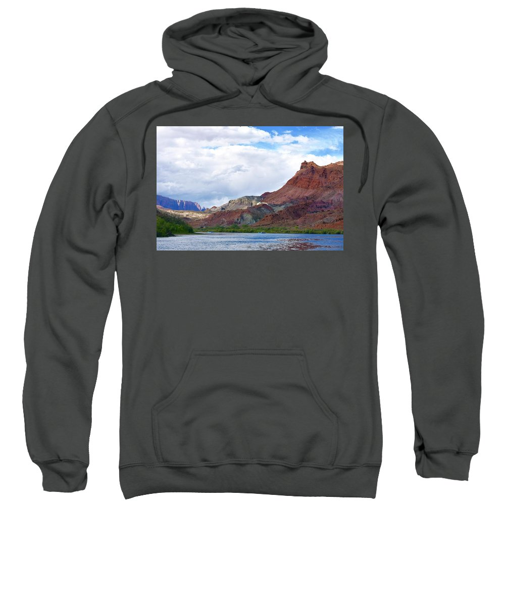 Colorado River Sweatshirt featuring the photograph Marble Canyon by Barbara Stellwagen