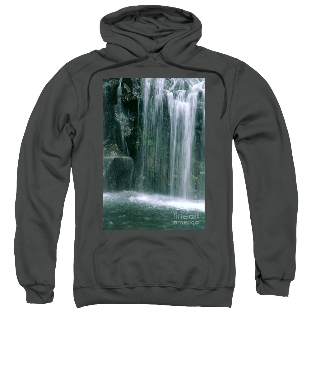 Active Sweatshirt featuring the photograph Maui Waterfall by Himani - Printscapes