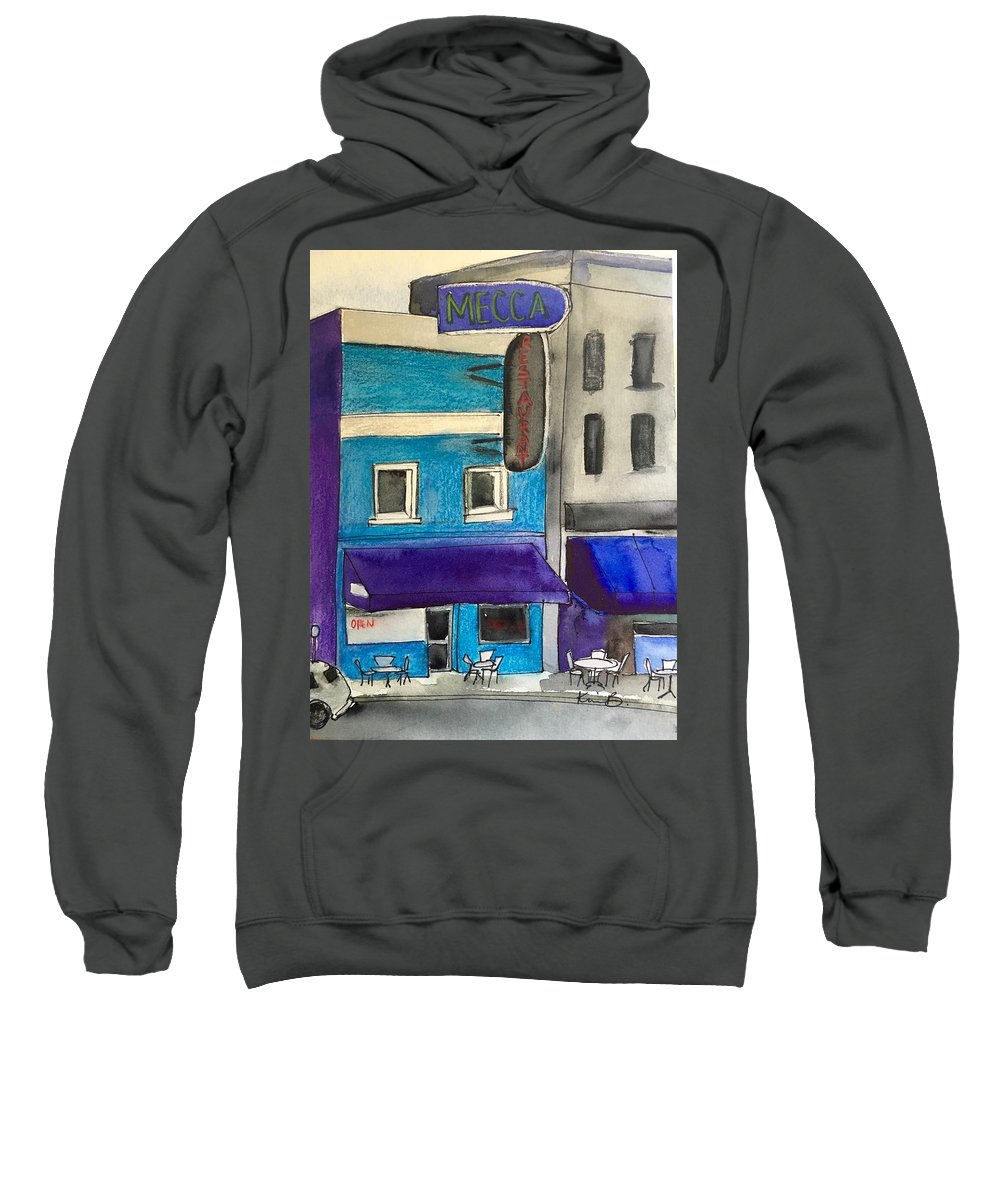 Raleigh Sweatshirt featuring the painting Mecca by Kimberly Balentine