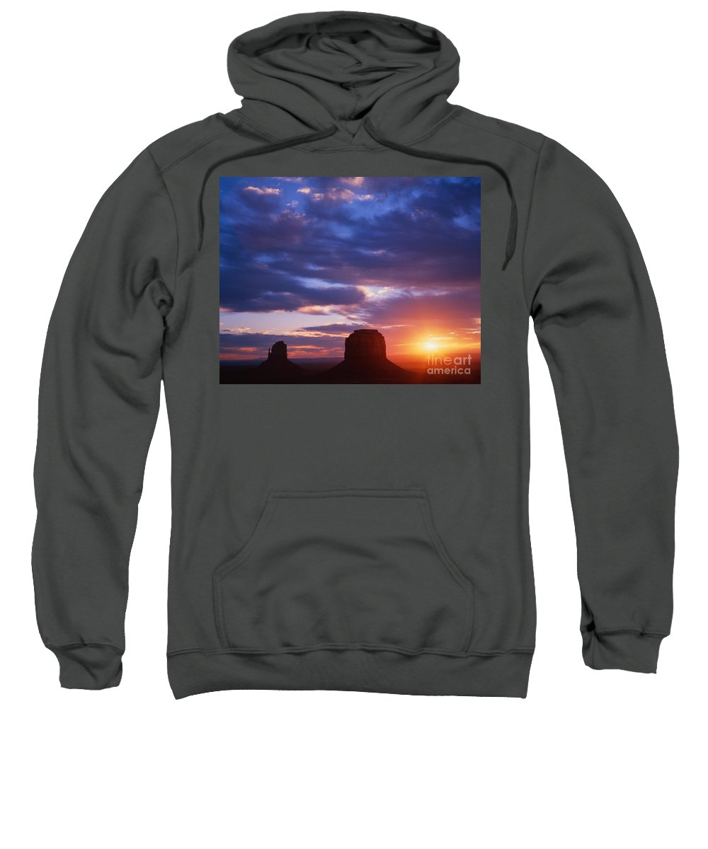 Landscape Sweatshirt featuring the photograph Monument Valley by Dennis Flaherty