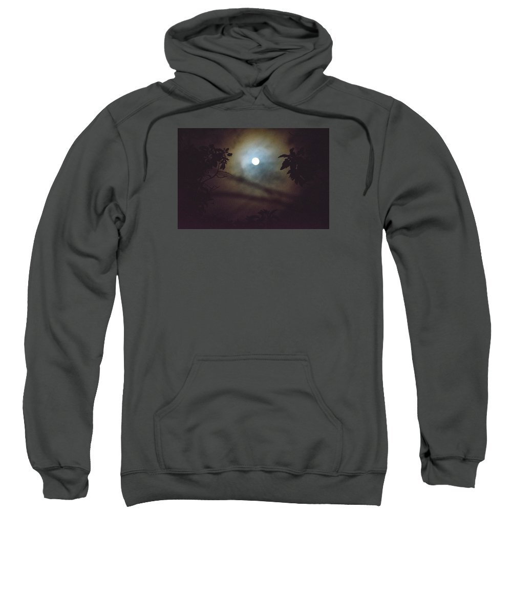 The Moon Sweatshirt featuring the photograph Moonlight And Tree by Totto Ponce