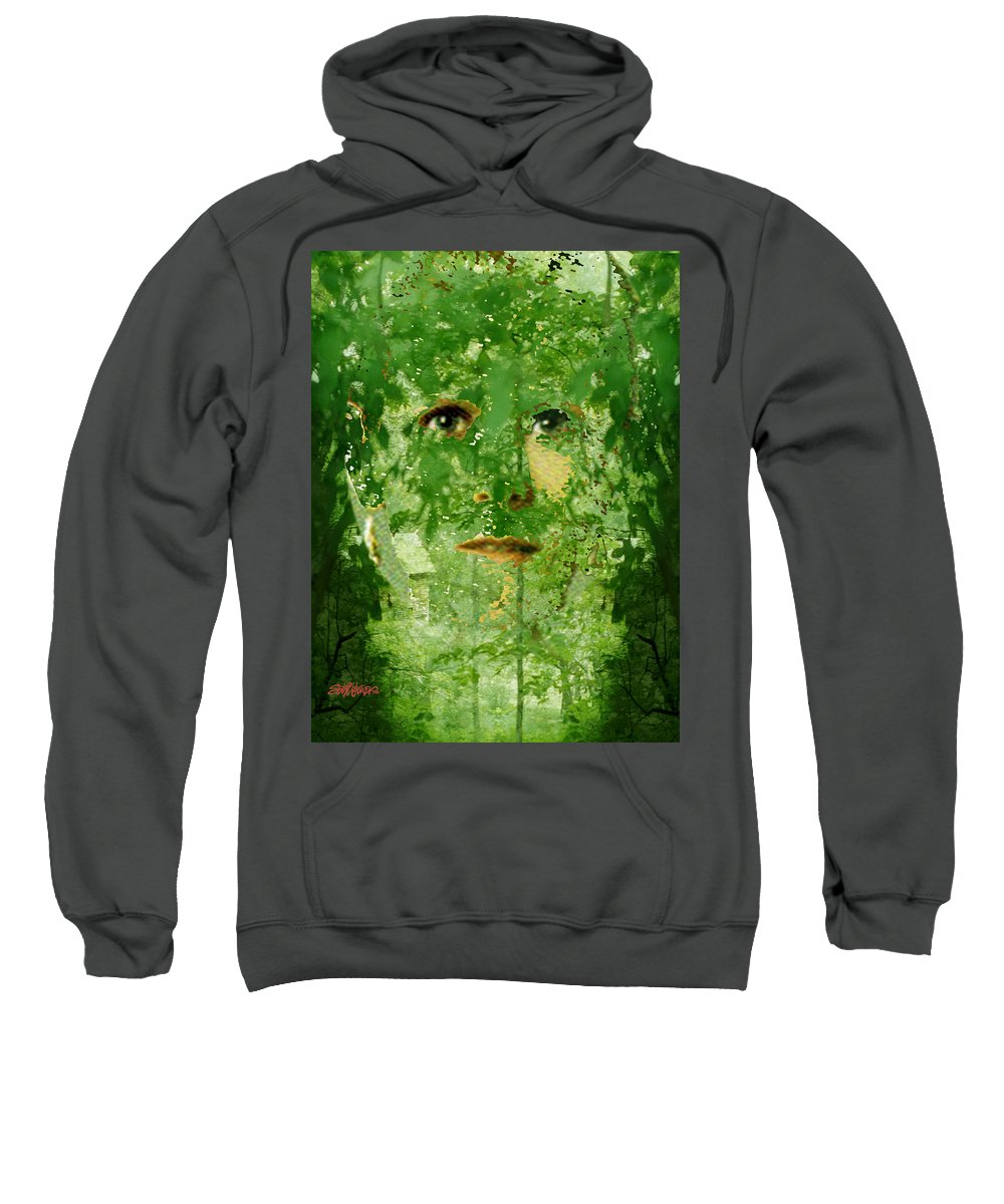 Lady Sweatshirt featuring the digital art Mother Nature by Seth Weaver
