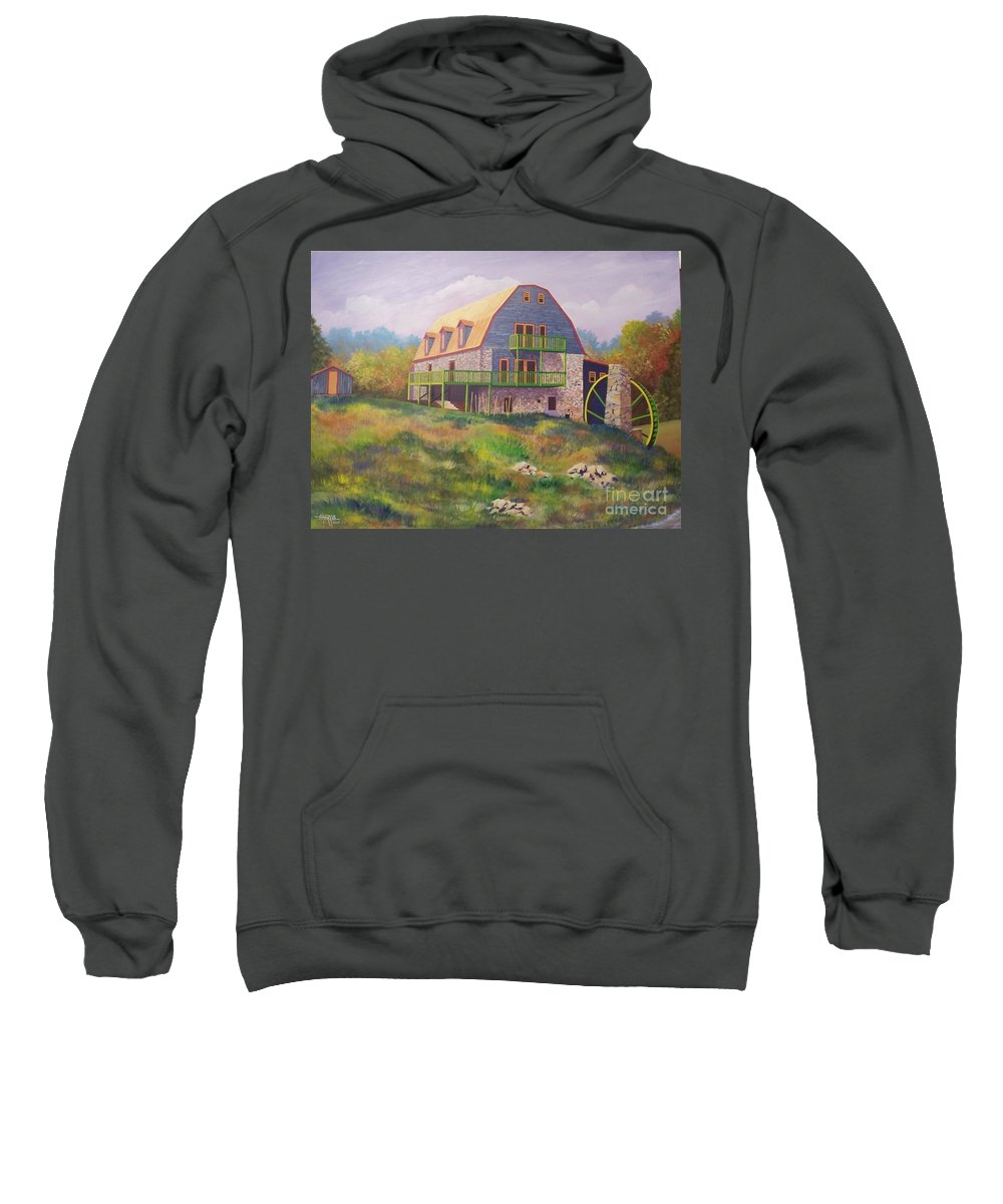 Mill Sweatshirt featuring the painting Mountain Mill by Hugh Harris