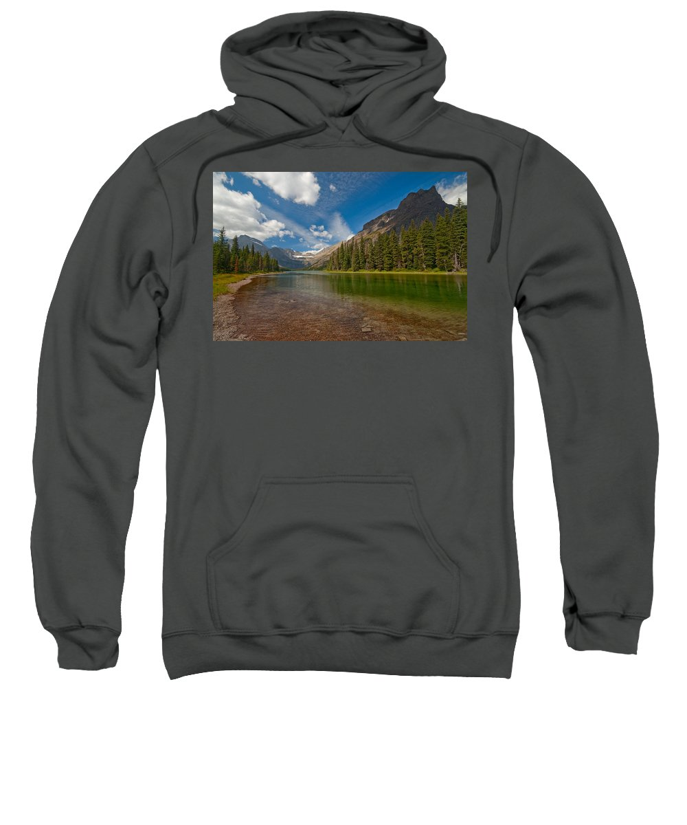 Nature Sweatshirt featuring the photograph Moutain Lake by Sebastian Musial