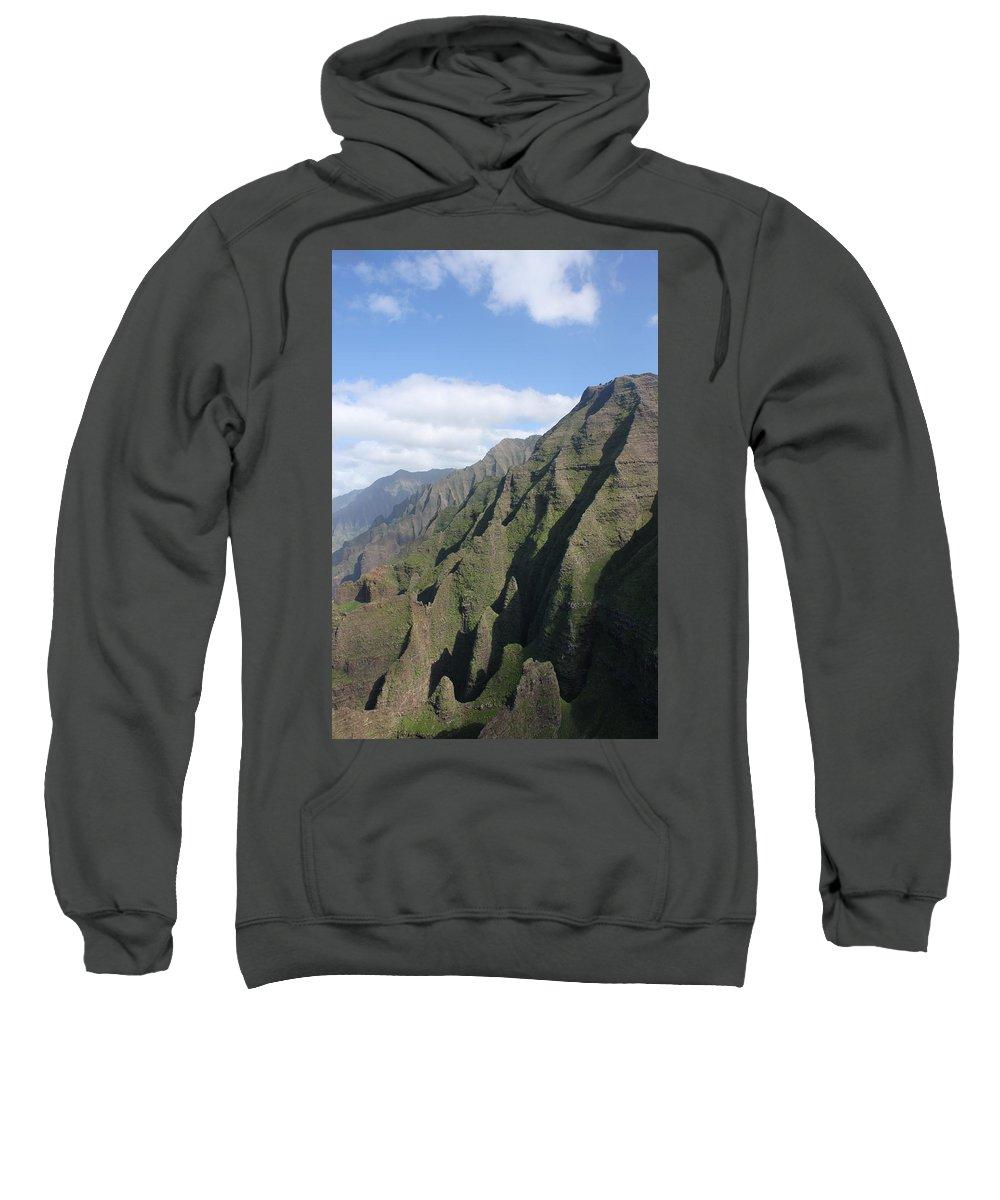 Napali Sweatshirt featuring the photograph Na Pali Coast by Lauri Novak