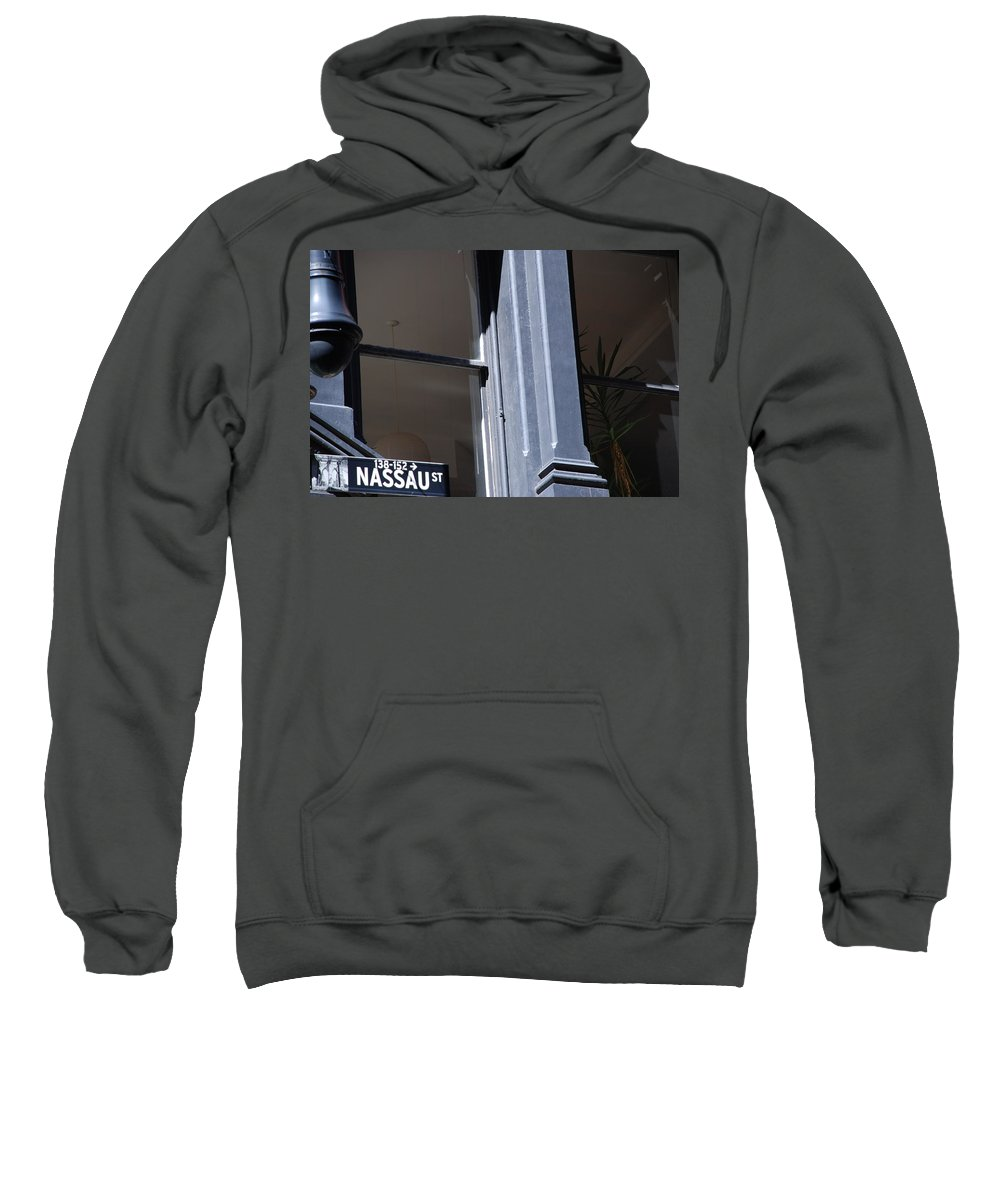 New York City Sweatshirt featuring the photograph Nassau Street by Rob Hans