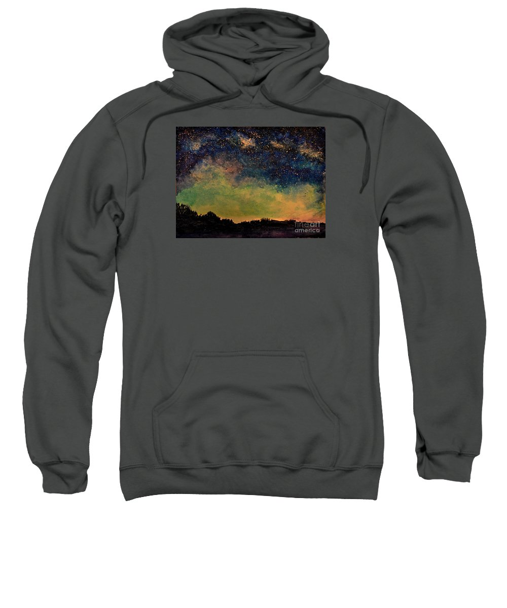 Northern Lights Sweatshirt featuring the painting Northern Lights by Crystal Miller