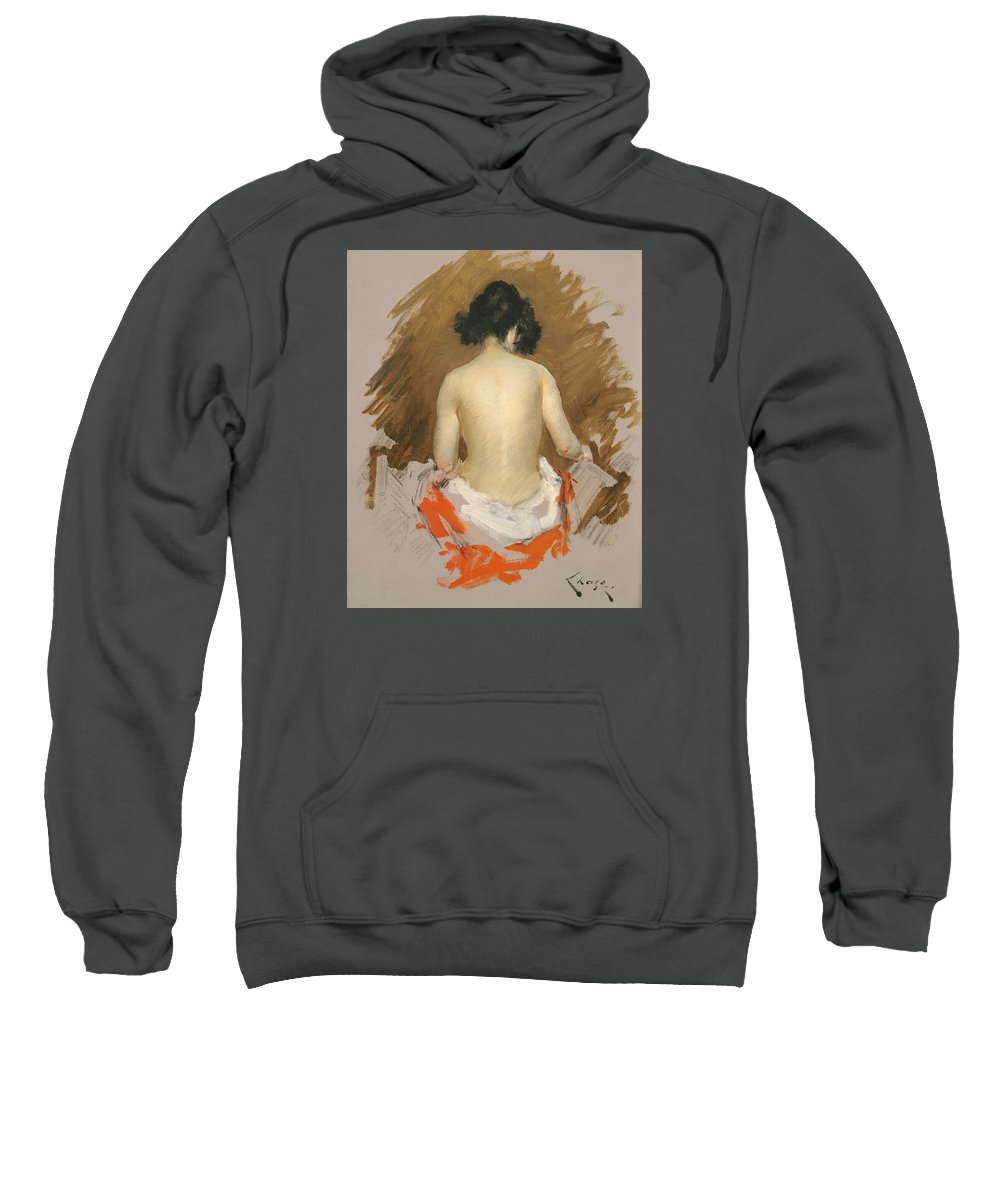 Painting Sweatshirt featuring the painting Nude by Mountain Dreams