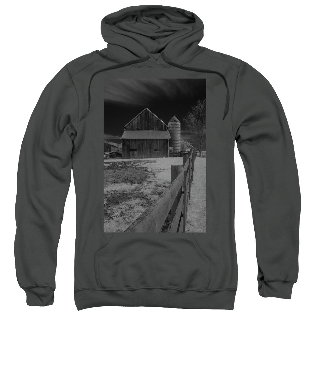 Infrared Sweatshirt featuring the photograph Old Barn by Catherine DeDecker