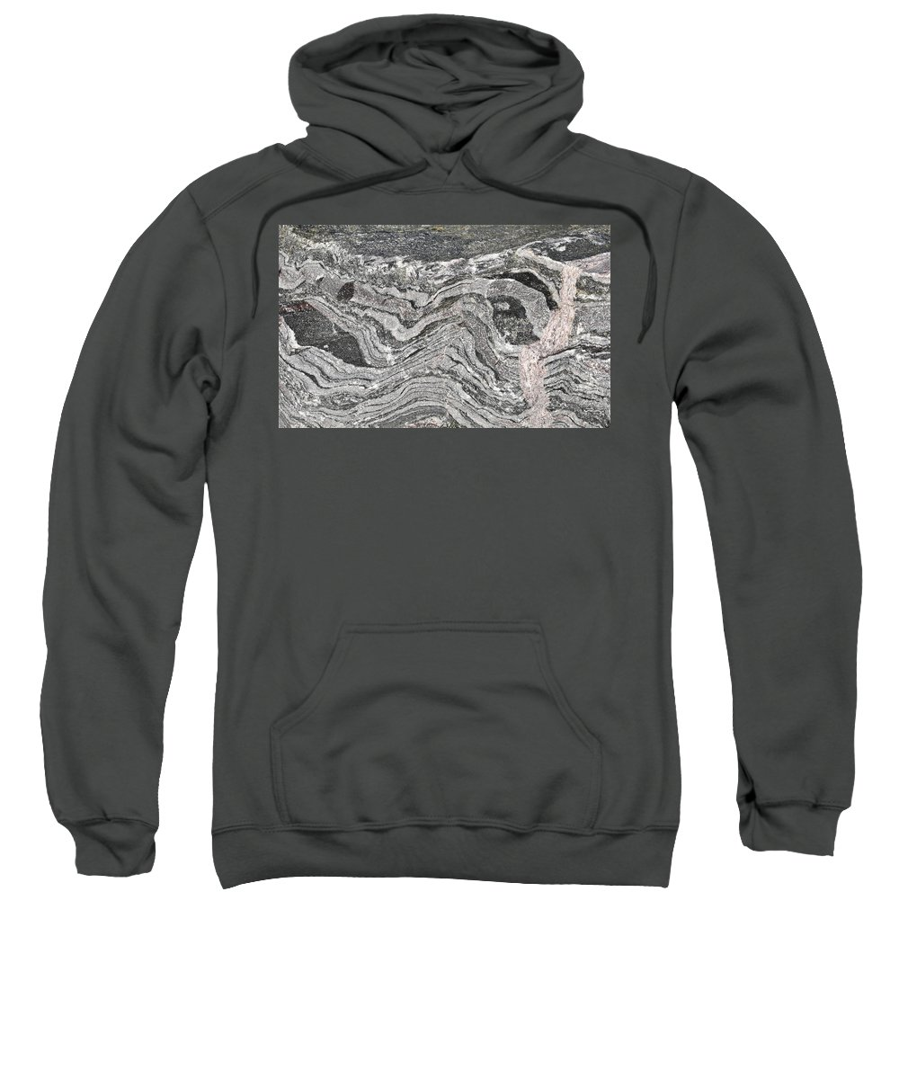 Abstract Sweatshirt featuring the photograph Old Rock Background by Tom Gowanlock