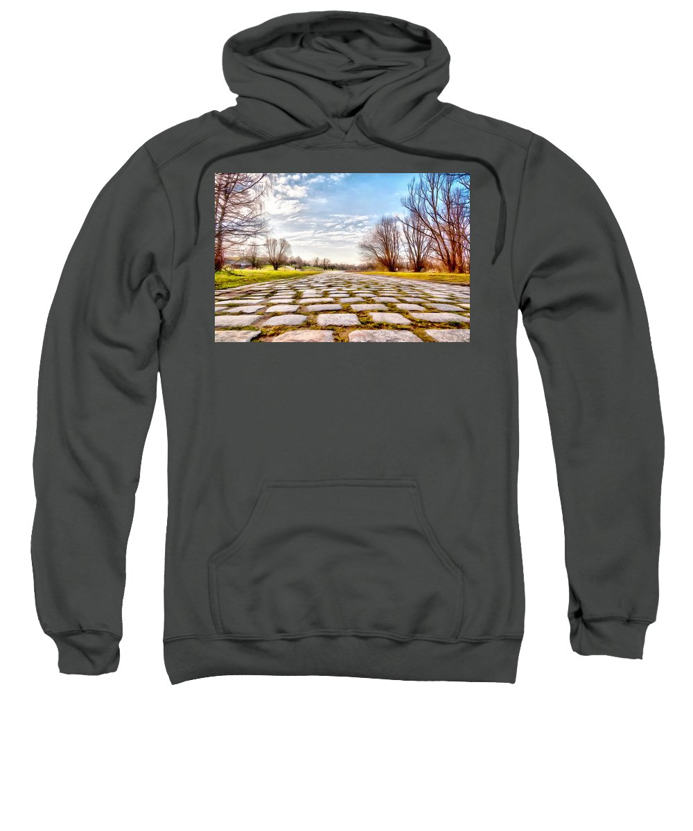 Cobble-stones Sweatshirt featuring the photograph Olimpia Park - Munich by Sergey Simanovsky