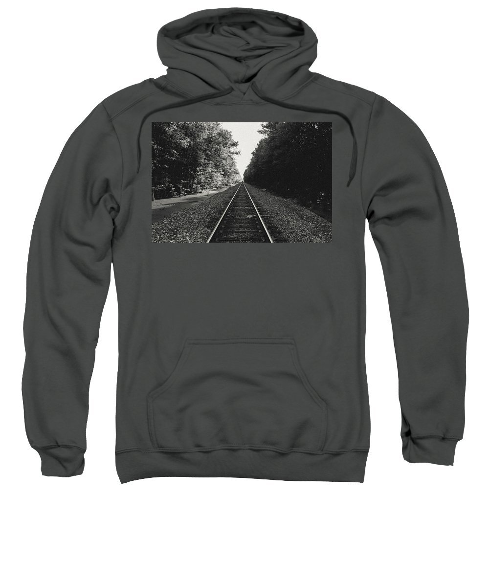Railroad Sweatshirt featuring the photograph On Track by Benjamin Dunlap