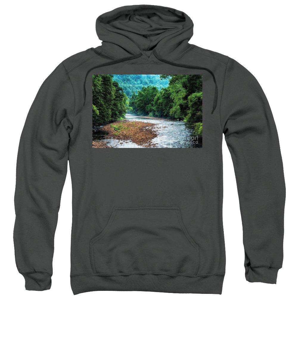 Elk River Sweatshirt featuring the photograph Osprey Over Elk River by Thomas R Fletcher
